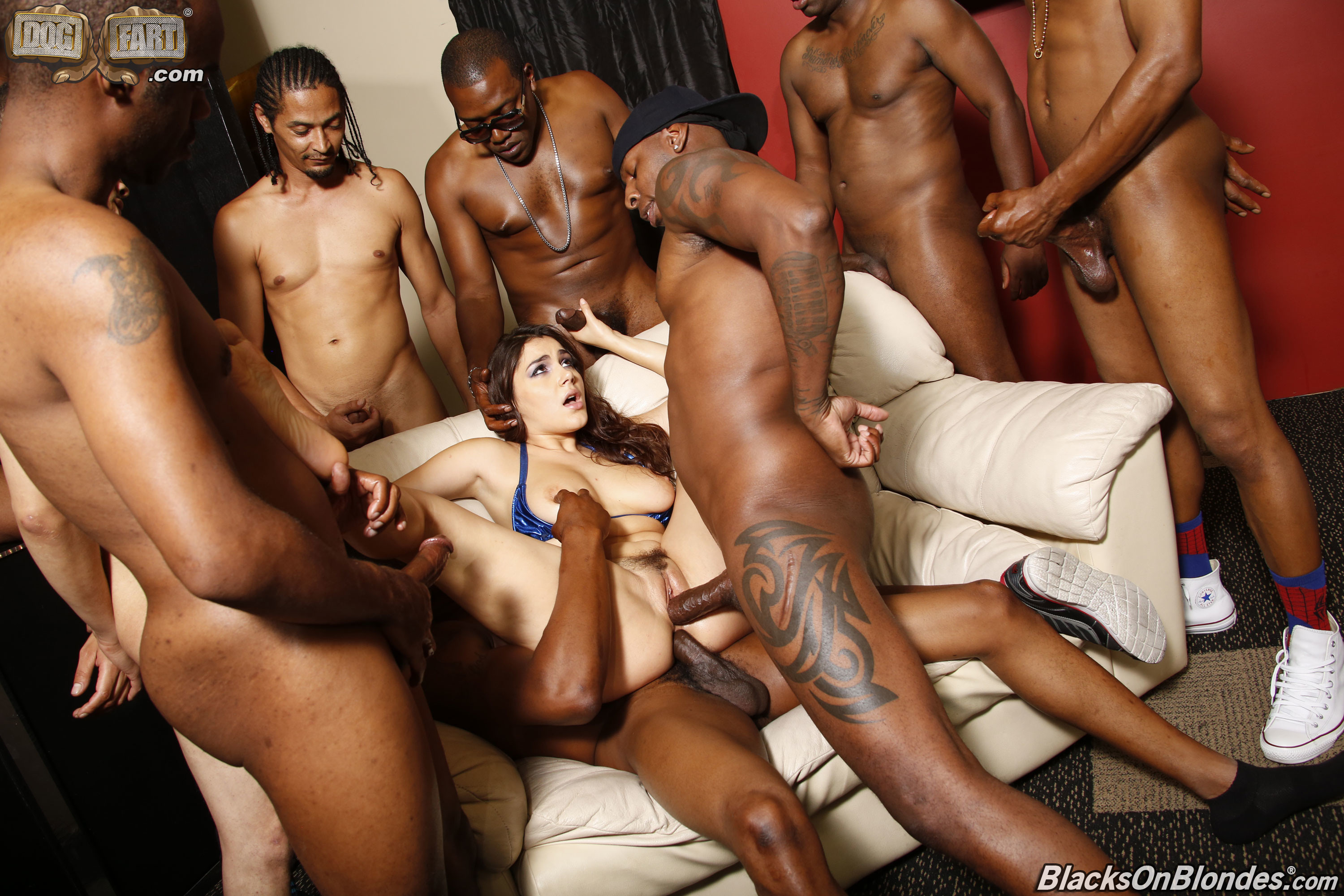 Female gangbang ebony