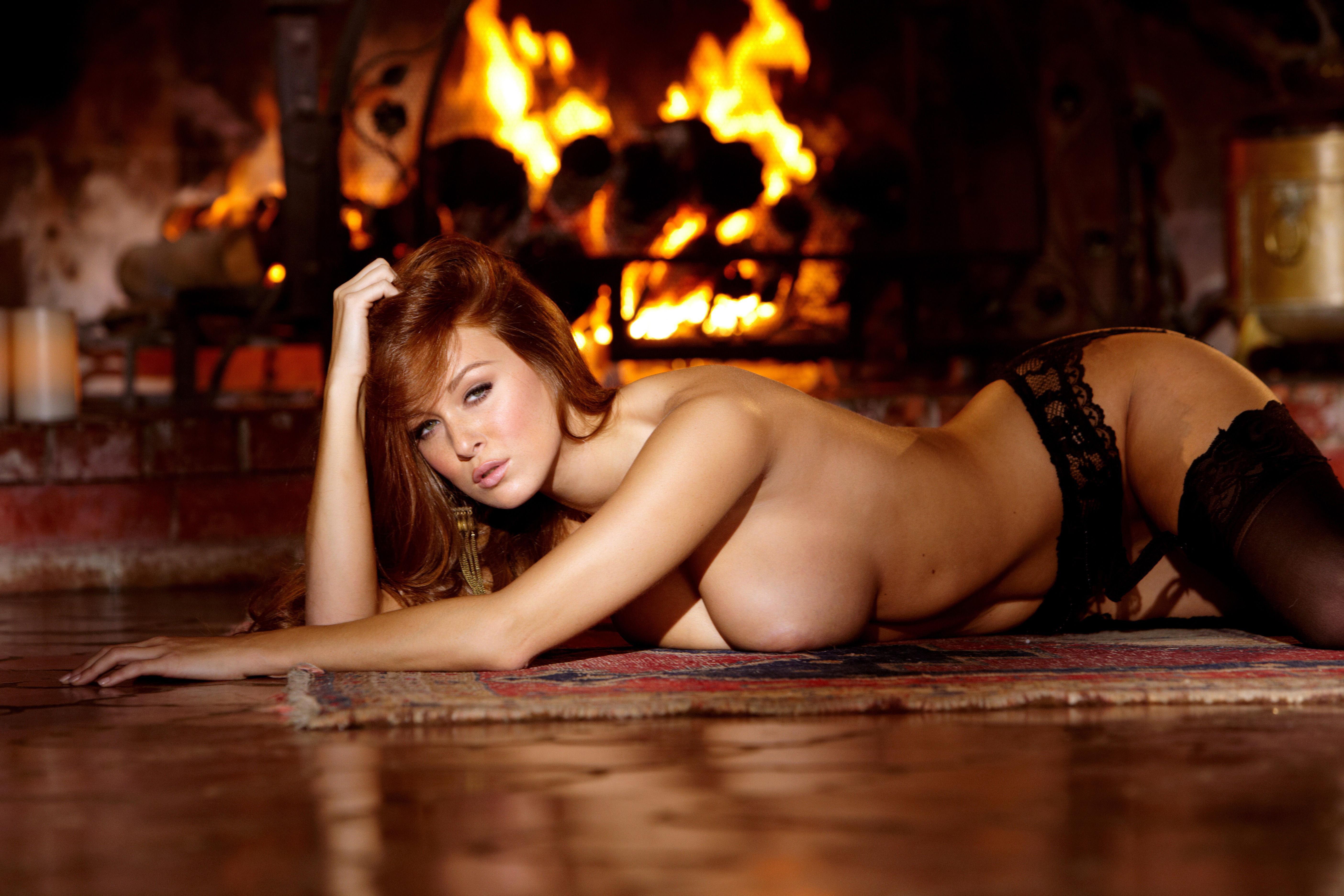 Pics fireplace nude porn