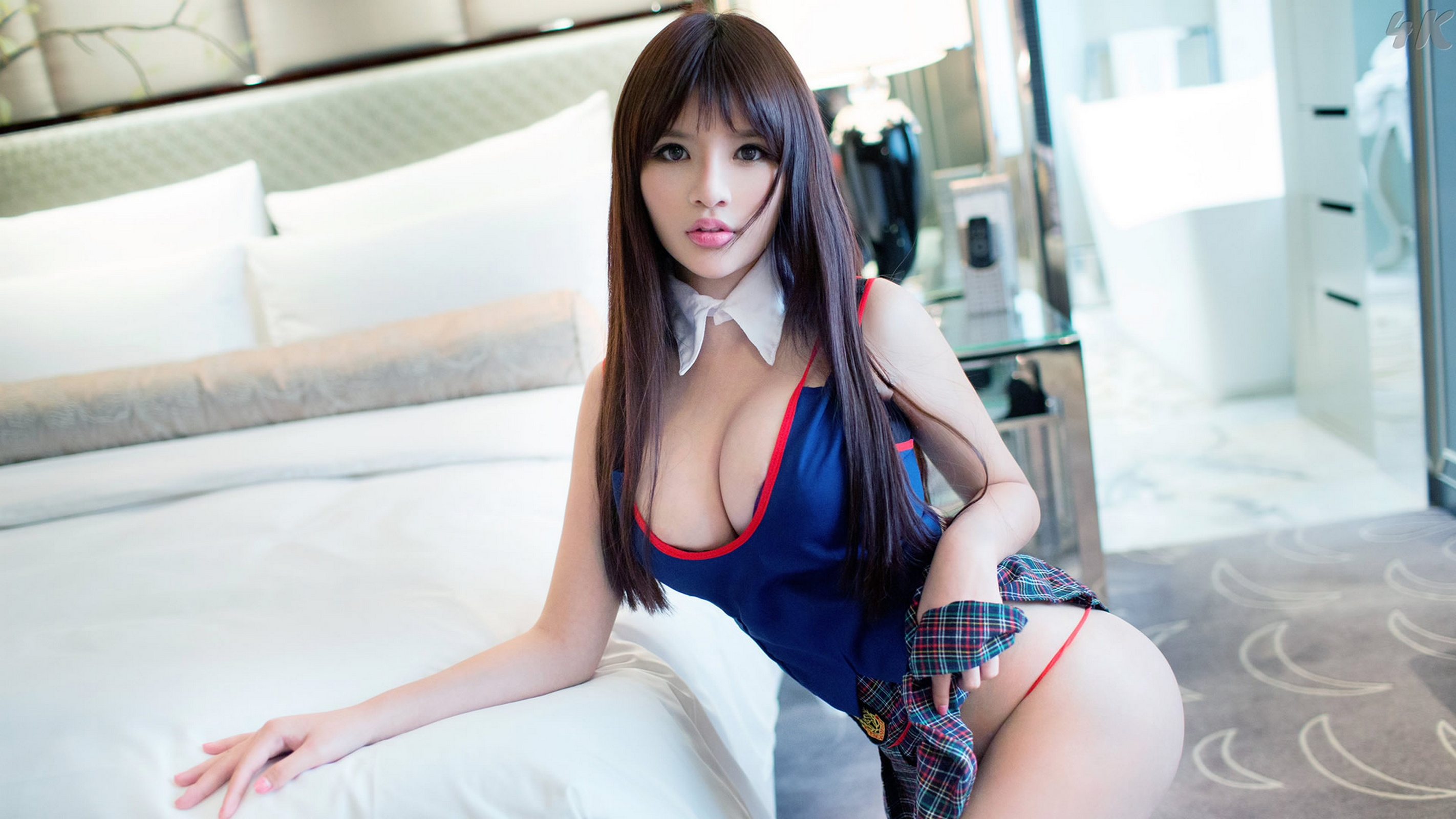 My concupiscent and lewd oriental girlfrieplays with vibrator
