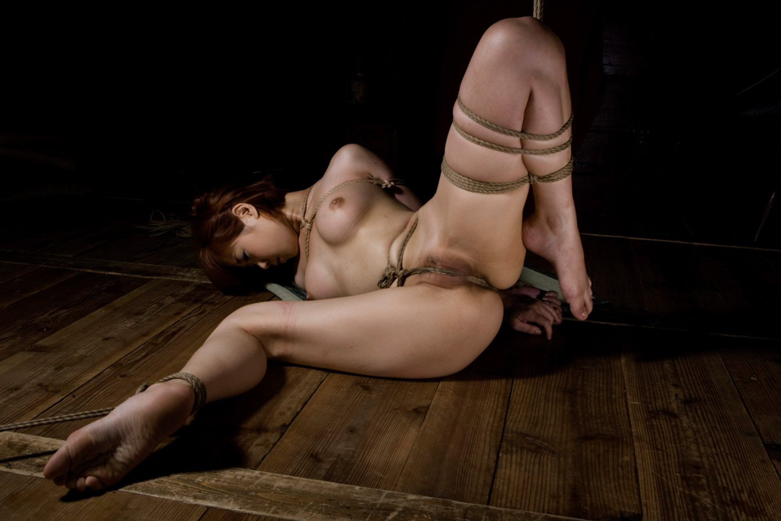 Wallpaper Karin Ninomiya, Kinbaku Model, Tied, Submissive -3242