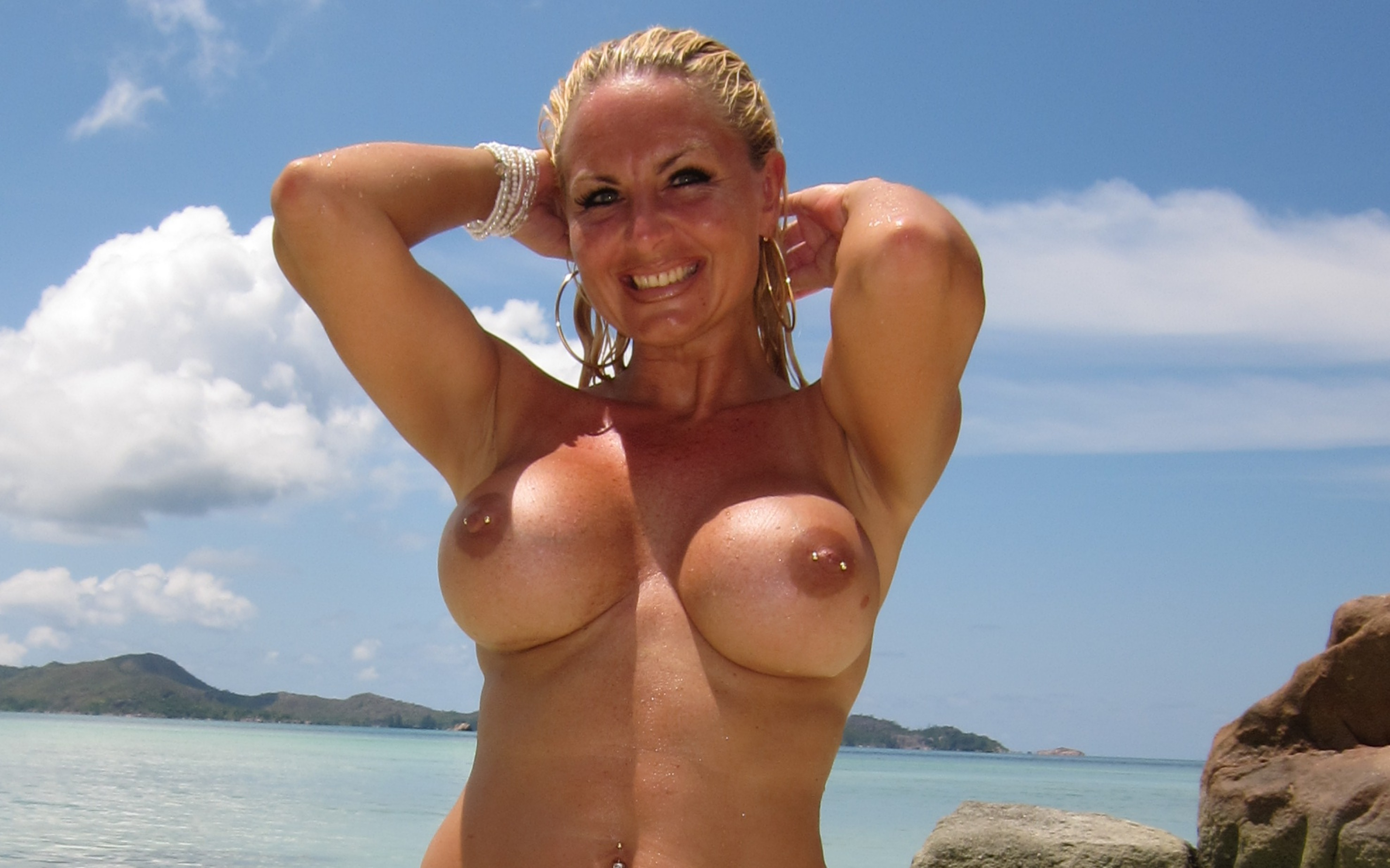 Perfect boobs big tits nude beach