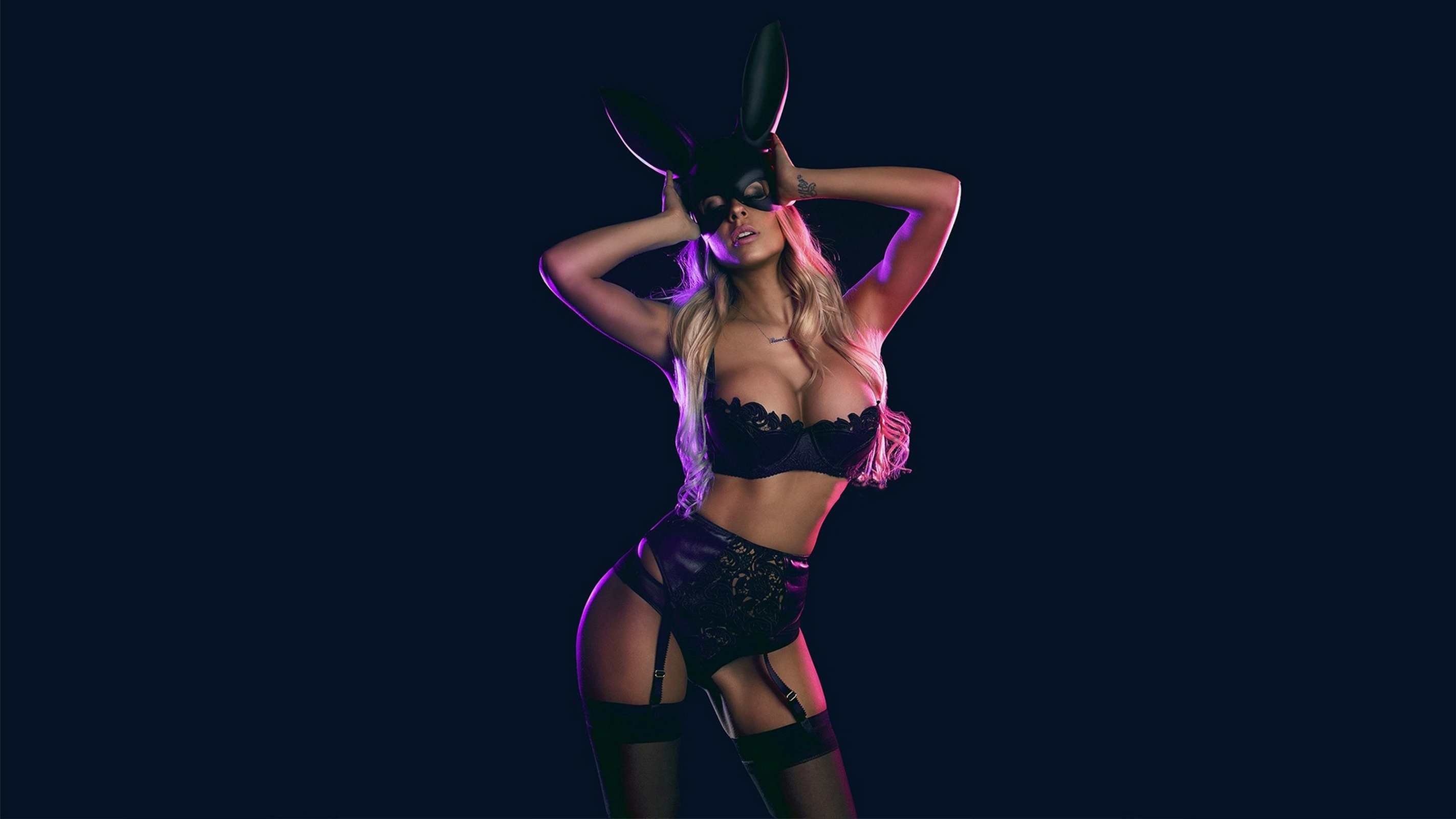 Download Photo 2845X1600, Blonde, Bunny, Lingerie, Costume -1189