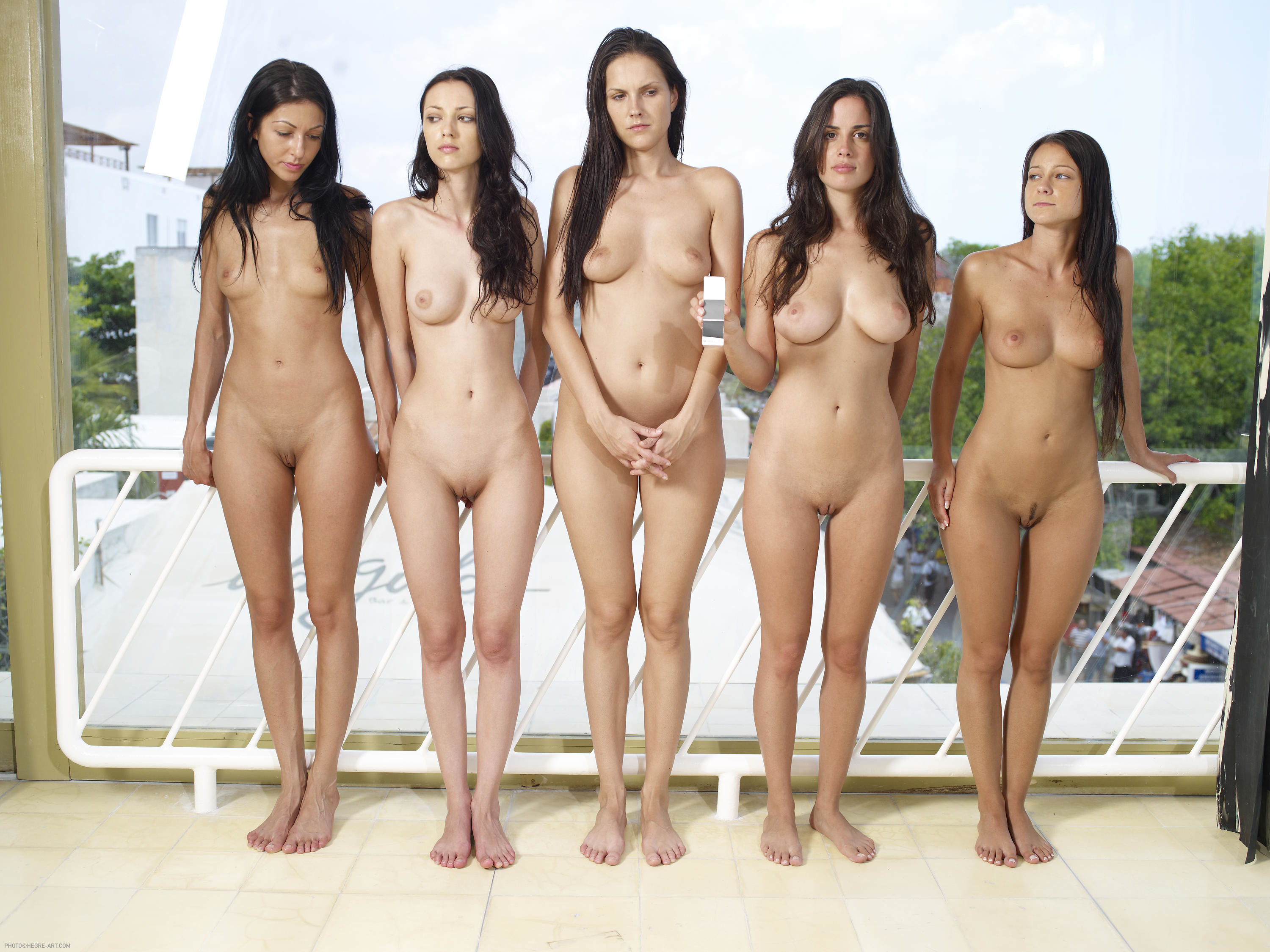 Oiled up nude girls-6061