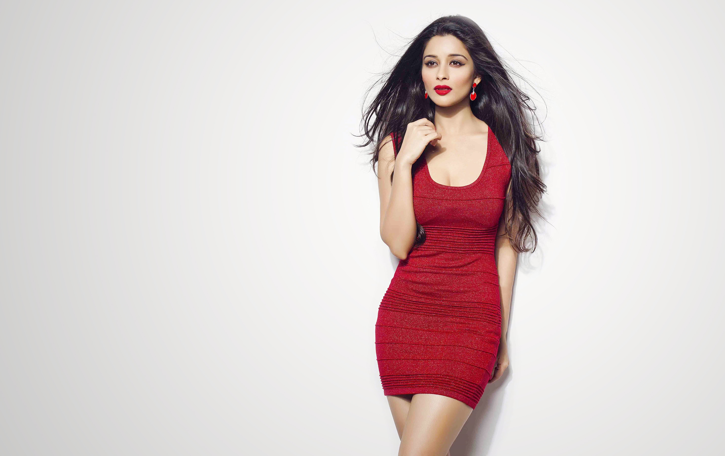 Wallpaper Madhurima Banerjee, Brunette, Sexy, Indian, Red -9069