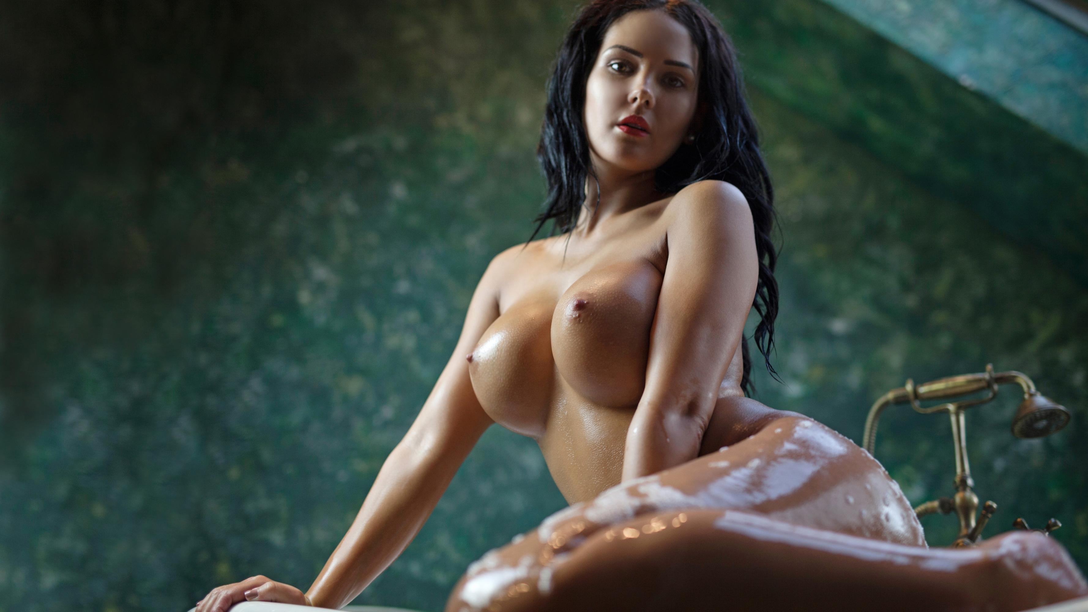 Wallpaper Kendra Roll, Brunette, Wet, Boobs, Big Boobs -5648