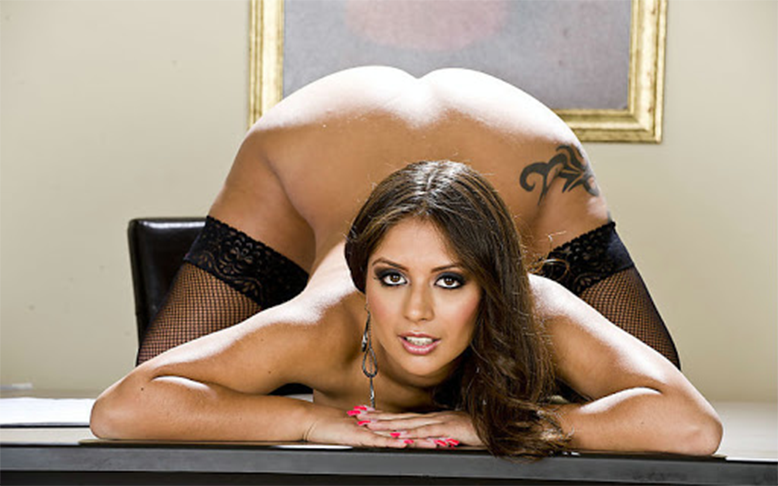 Wallpaper jynx maze, stockings, ass, brunette, bad quality ...