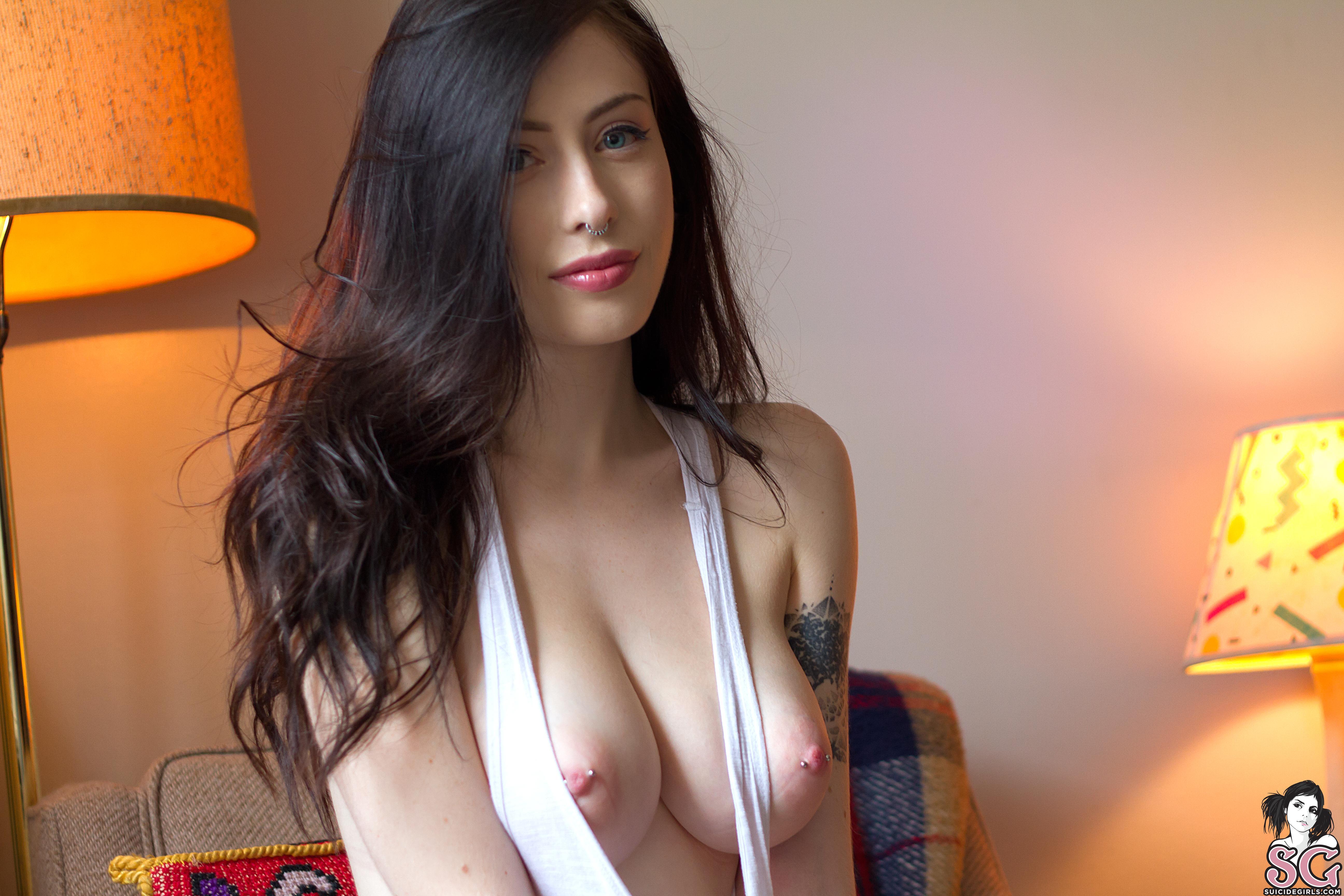 Big tits pierced nipples blonde milf 3