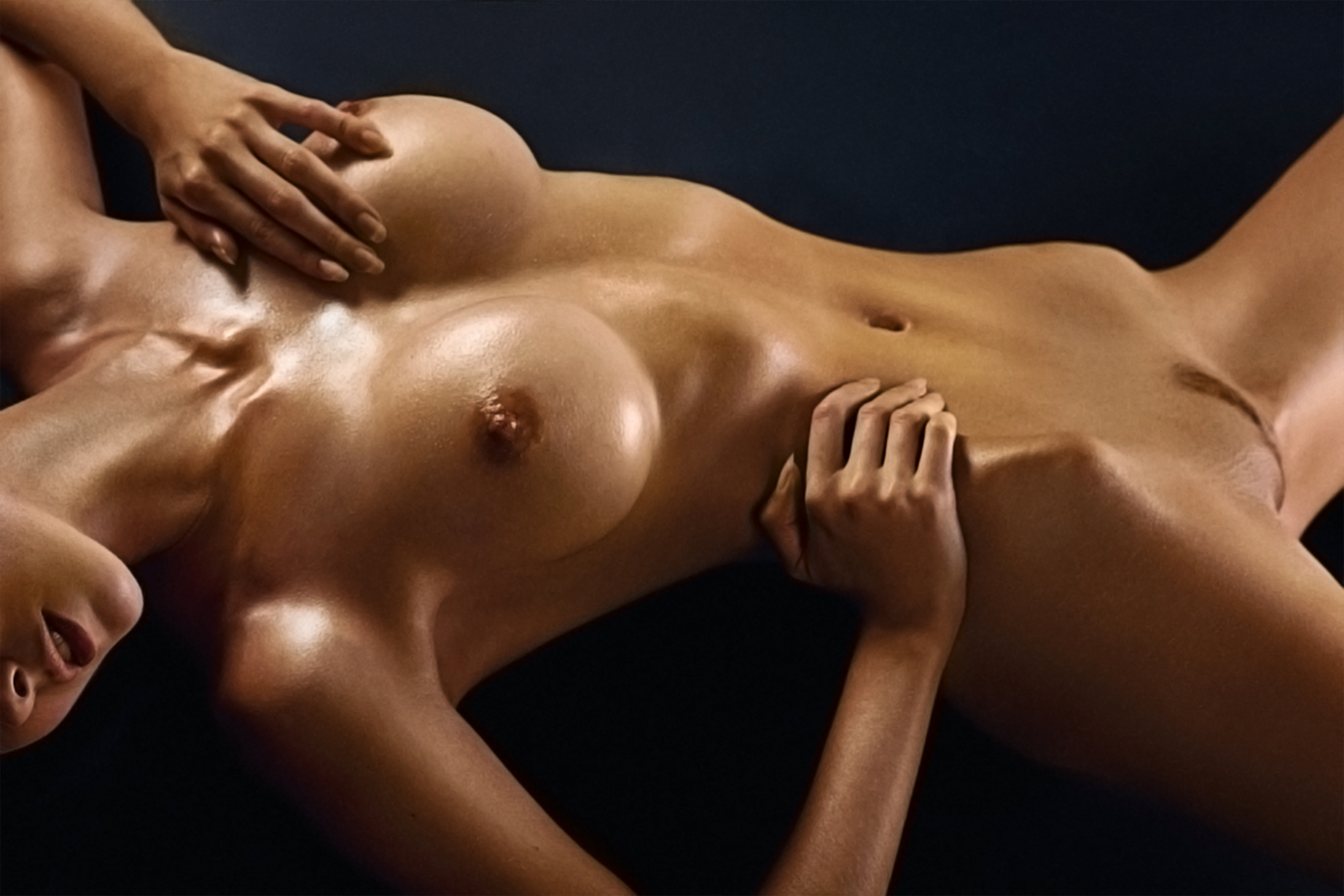 Nude oily girls