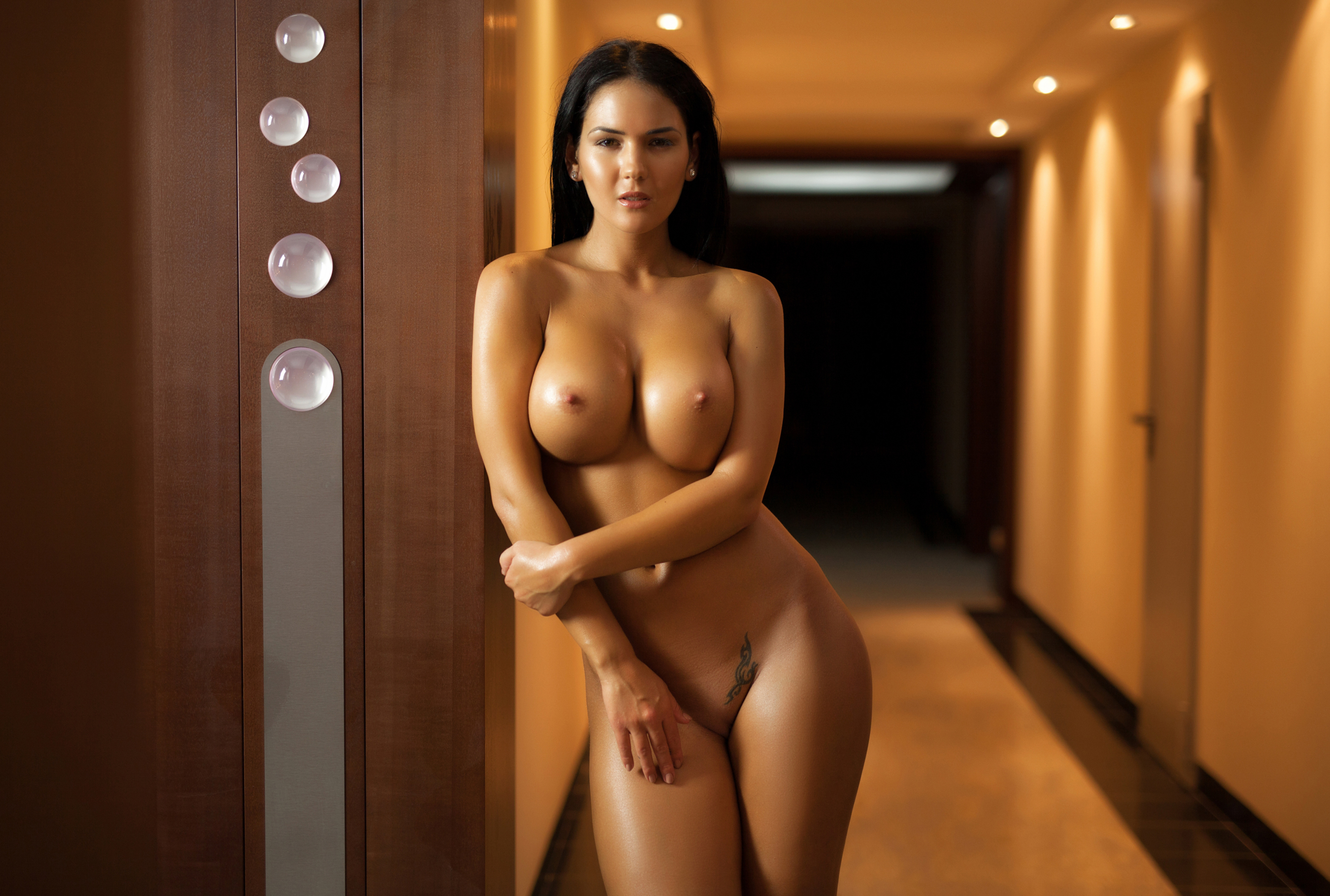 Wallpaper Kendra, Brunette, Boobs, Big Boobs, Naked, Nude -8711