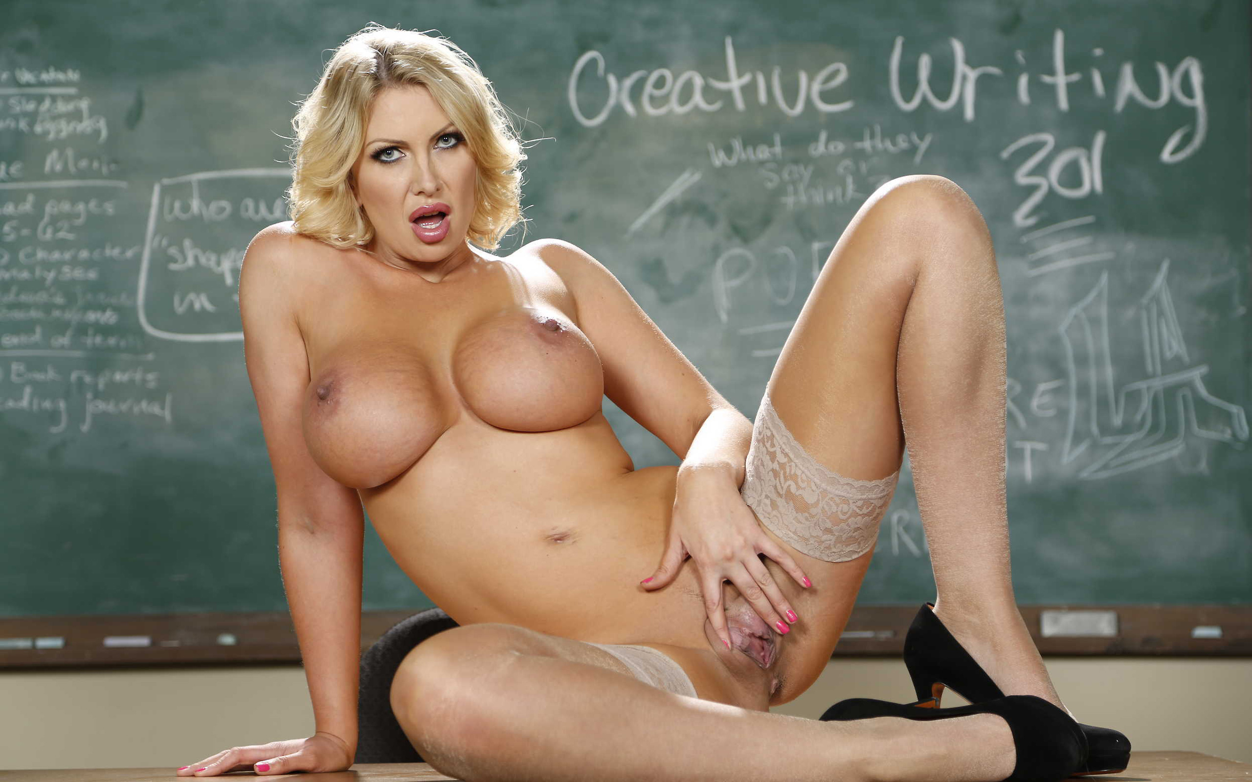 sexy blond teacher naked