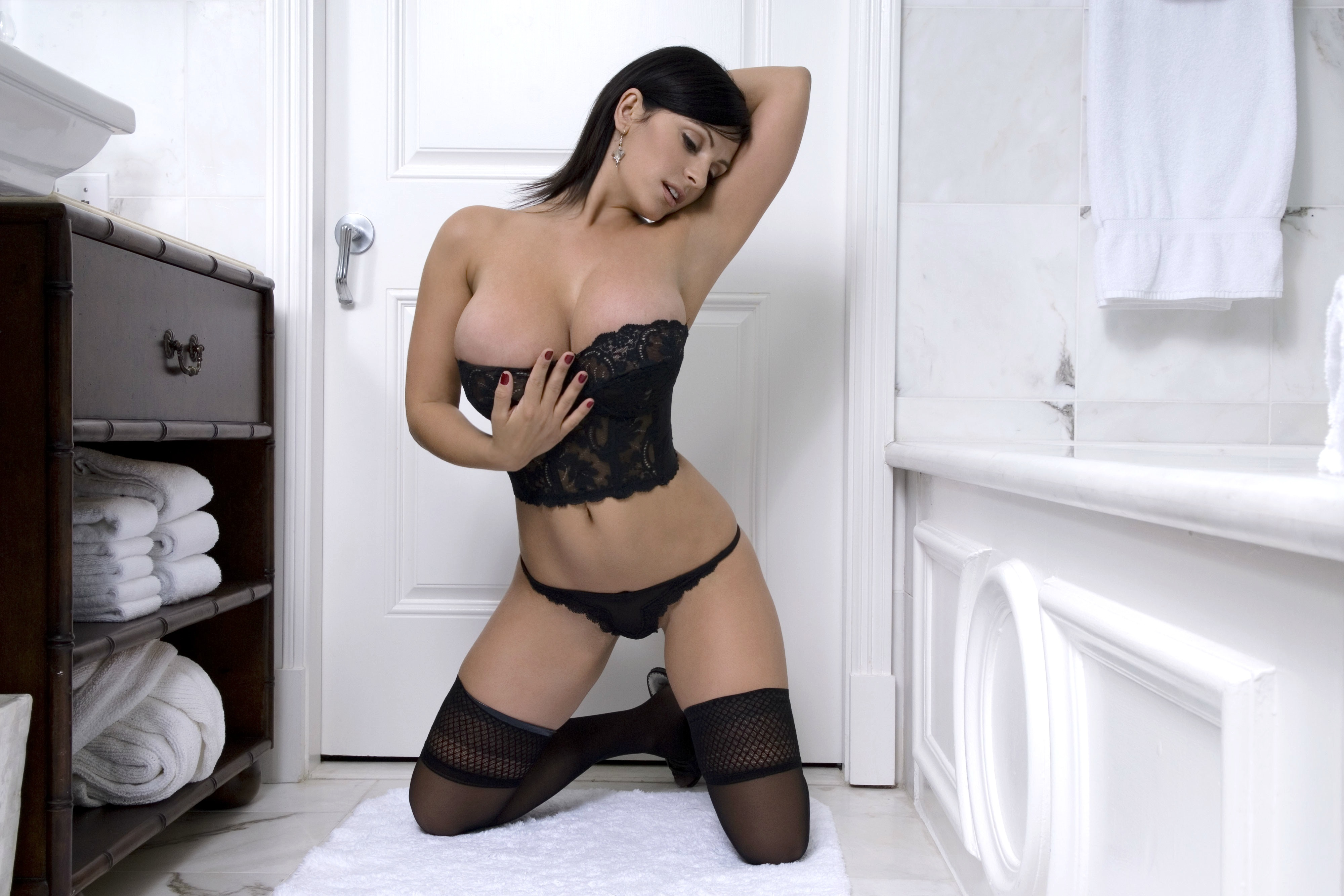 Wallpaper Denise Milani, Model, Brunette, Amazing, Big -1346