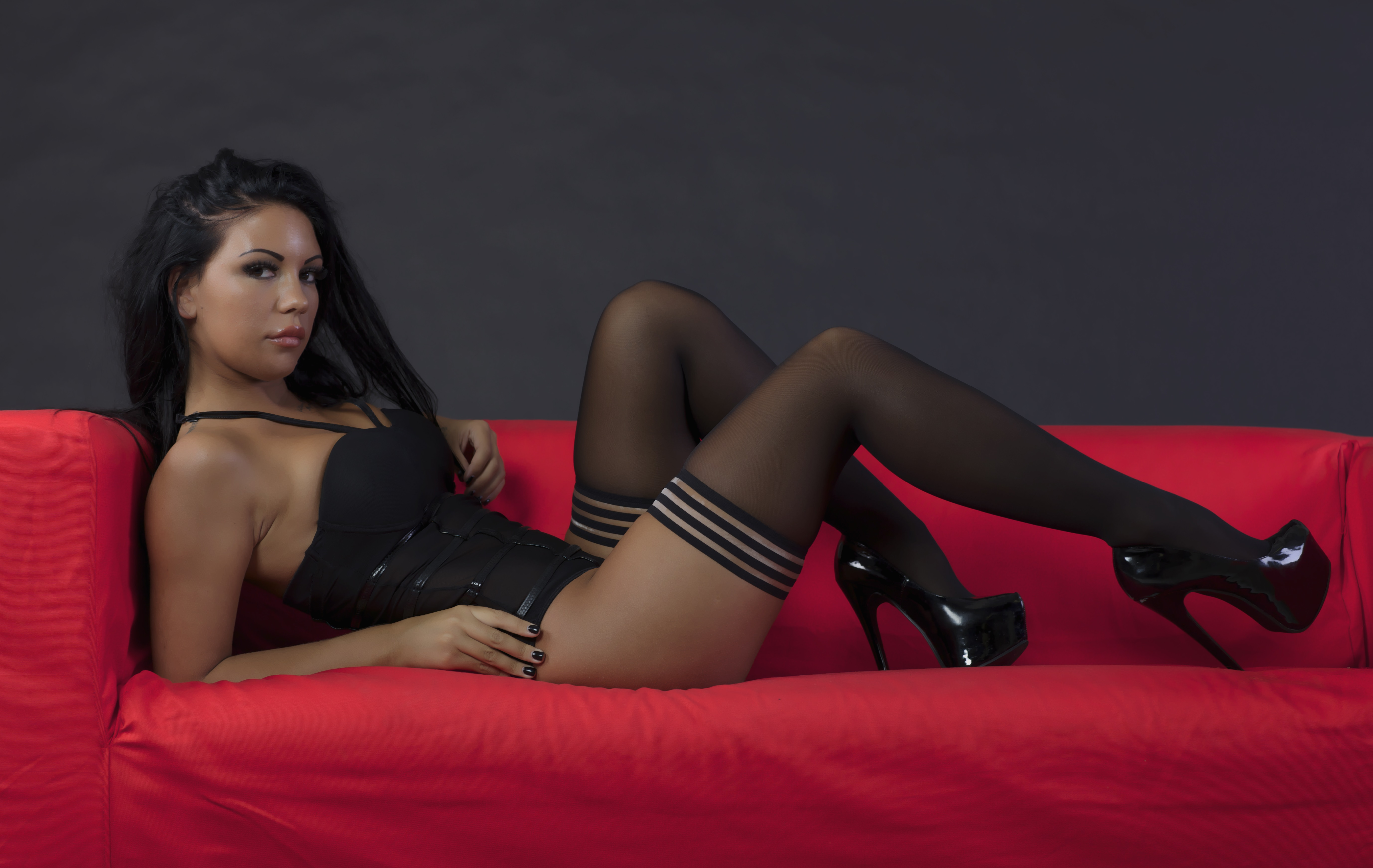 Wallpaper Stockings, Heels, Teen, Tan, Tanned, Lingerie -8680