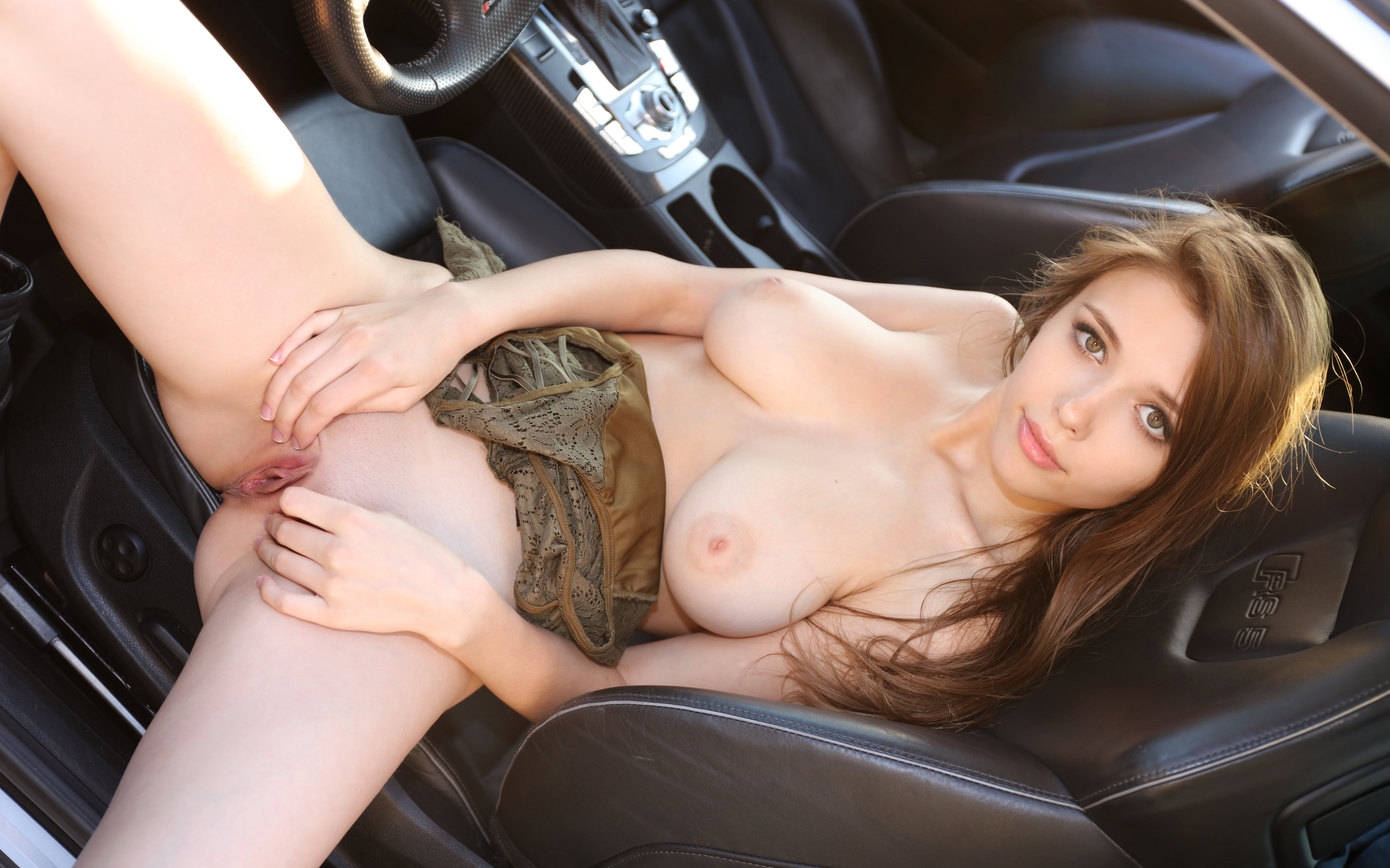 This car stuck girls naked