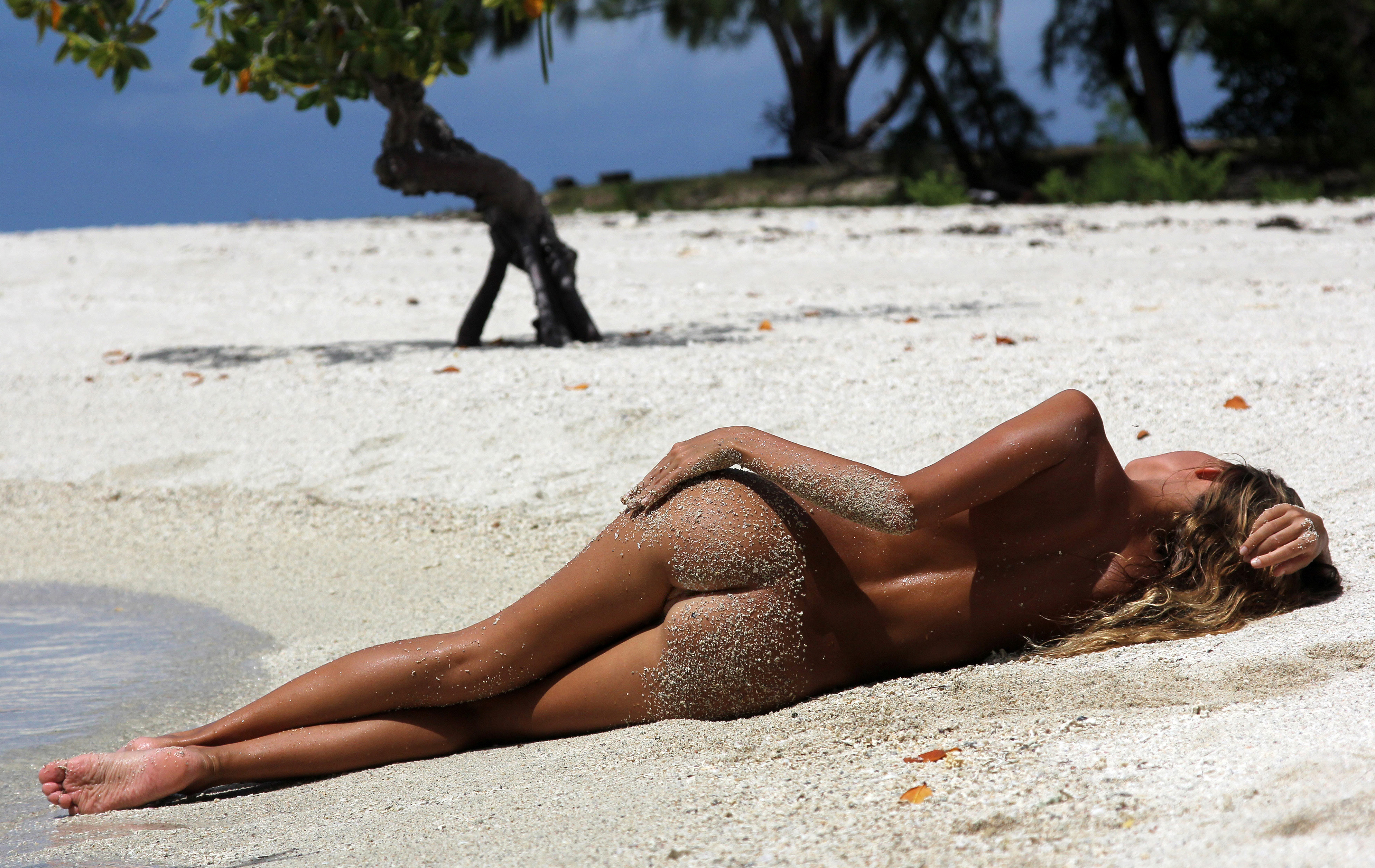 Wallpaper Butt, Sand, Beach, Pussy, Smooth Pussy, Tan -9240