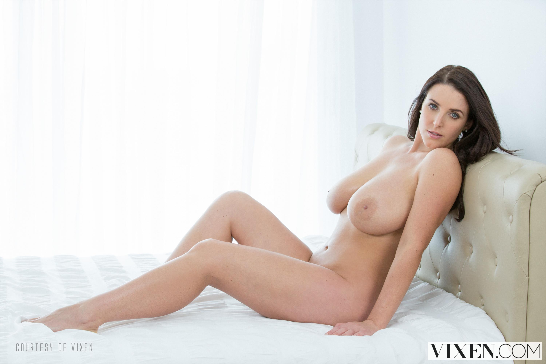 Wallpaper Angela White, Brunette, Long Hair, Naked, Boobs -9432