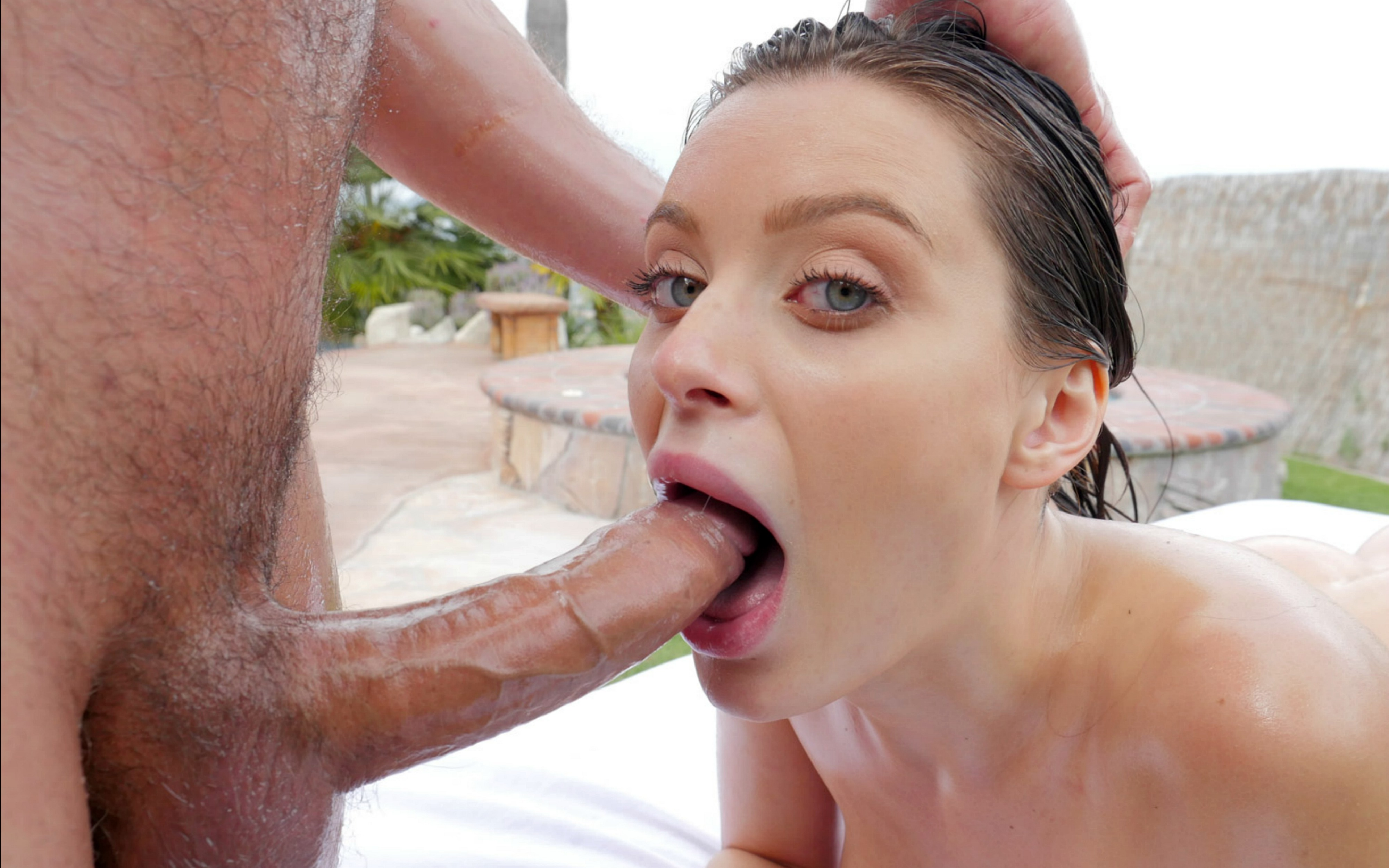 Uncut outdoor anal cumming
