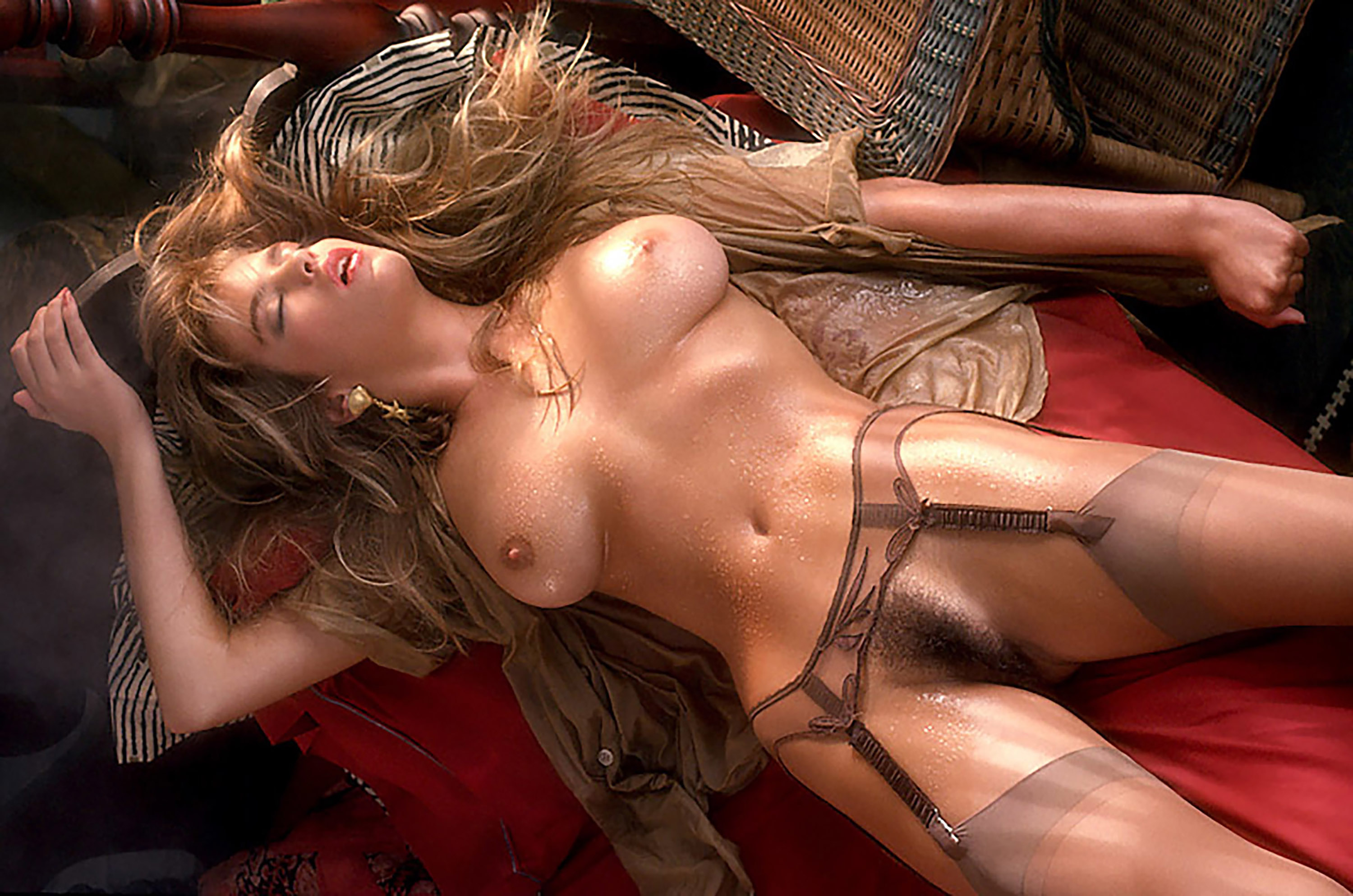 Wallpaper Gianna Amore, Stockings, Pussy, Tits, Boobs, Haired Pussy -2829