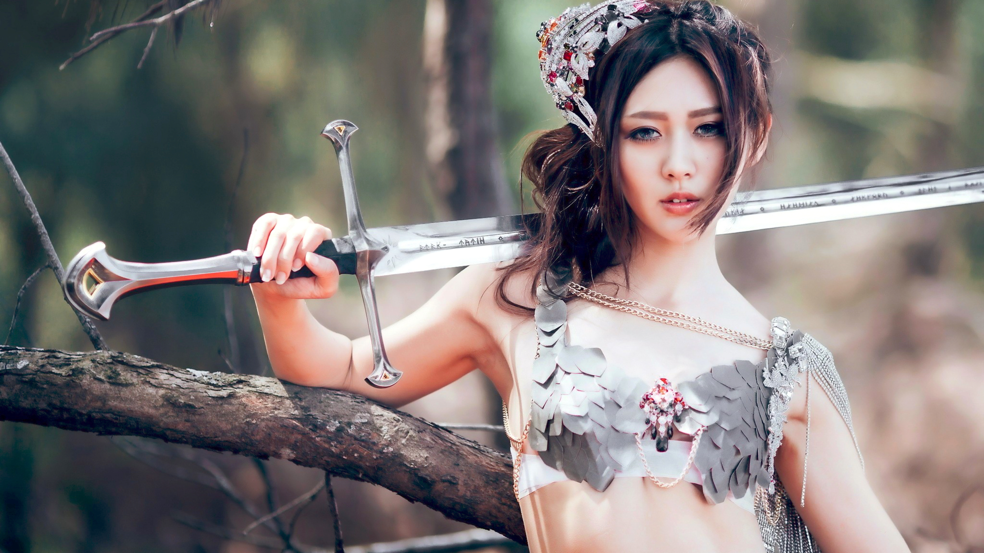 Asian girl with sword #12