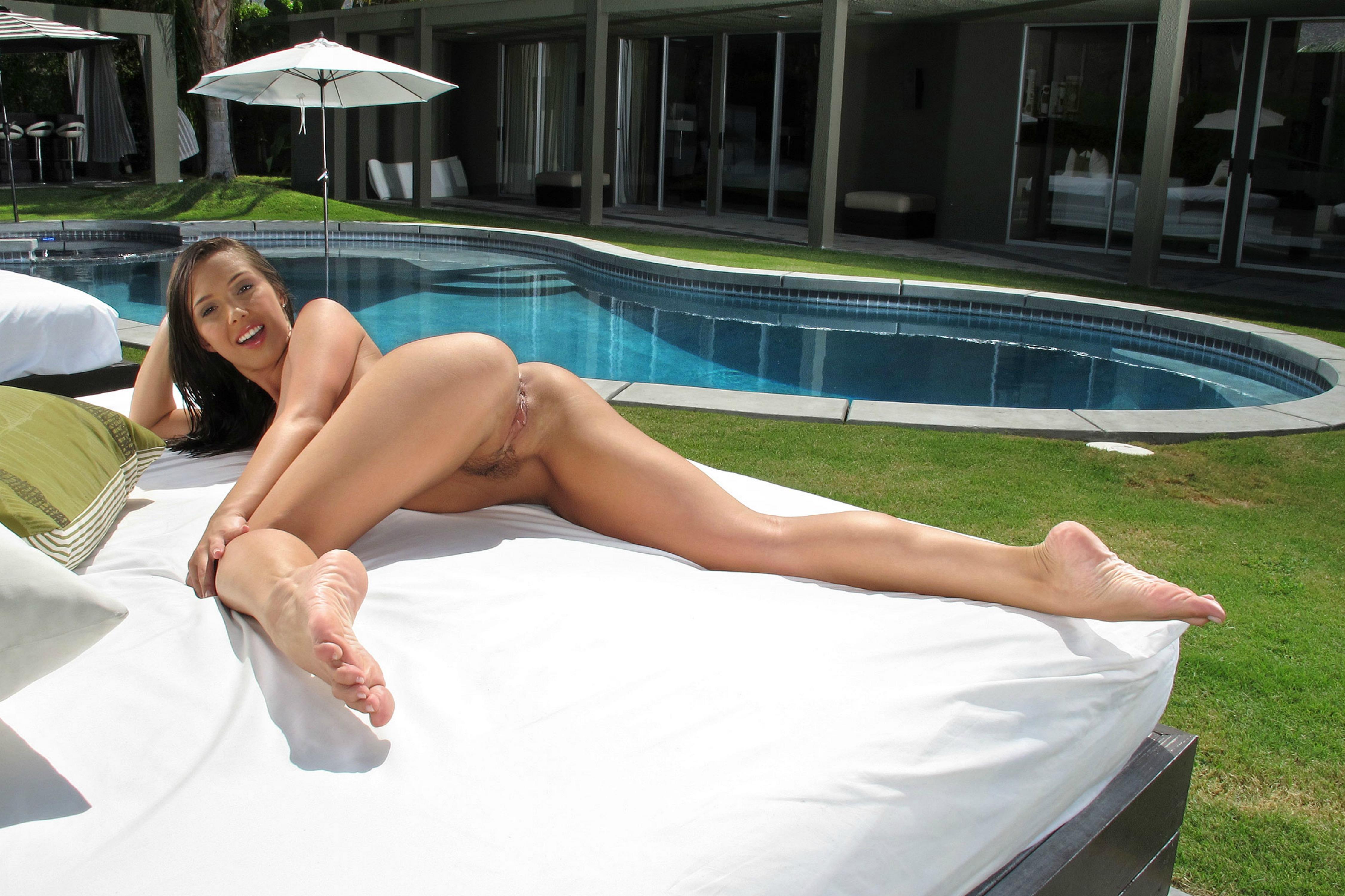 Wallpaper jenna sativa, brunette, pool, naked, trimmed ...