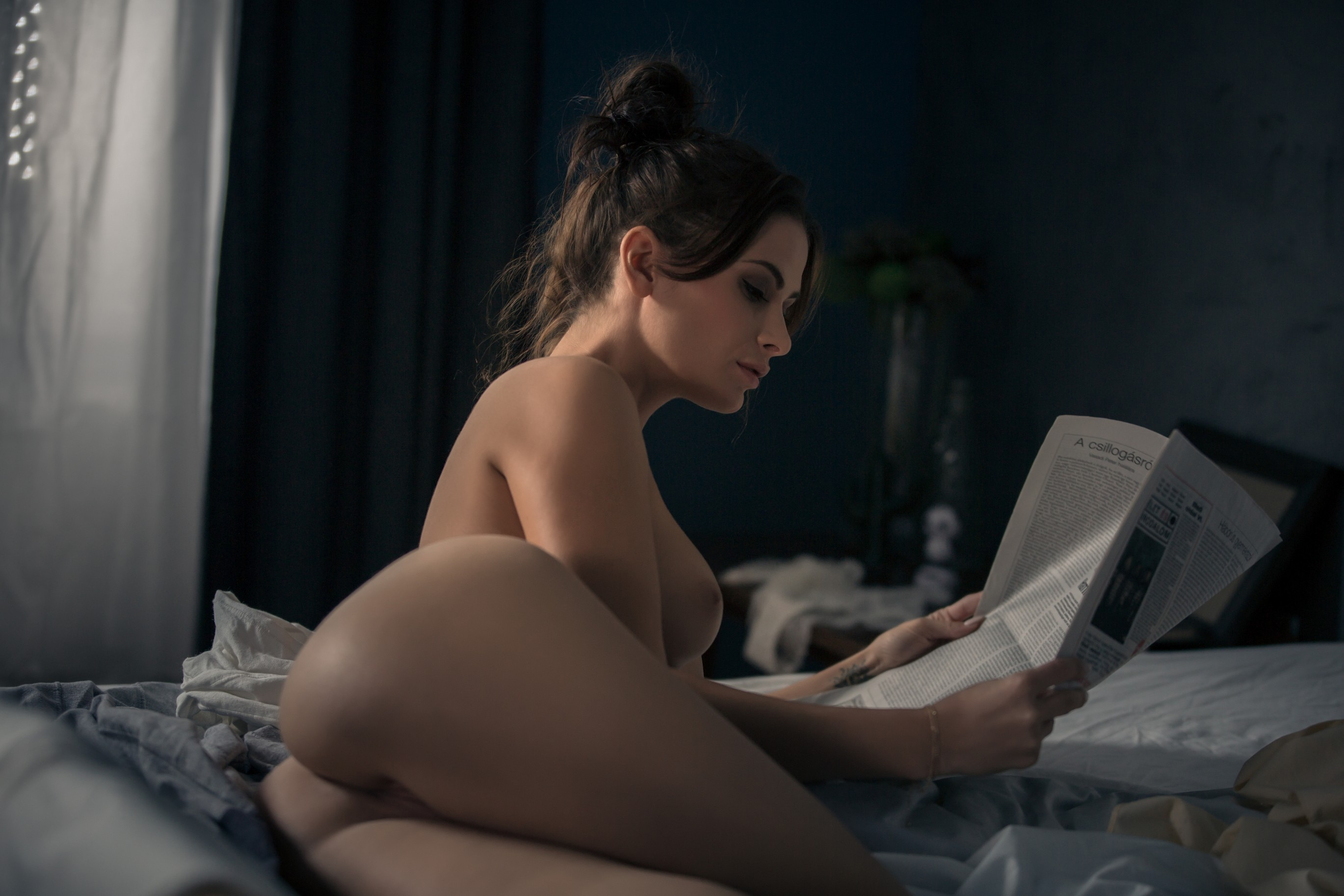 Nude Girl Reading