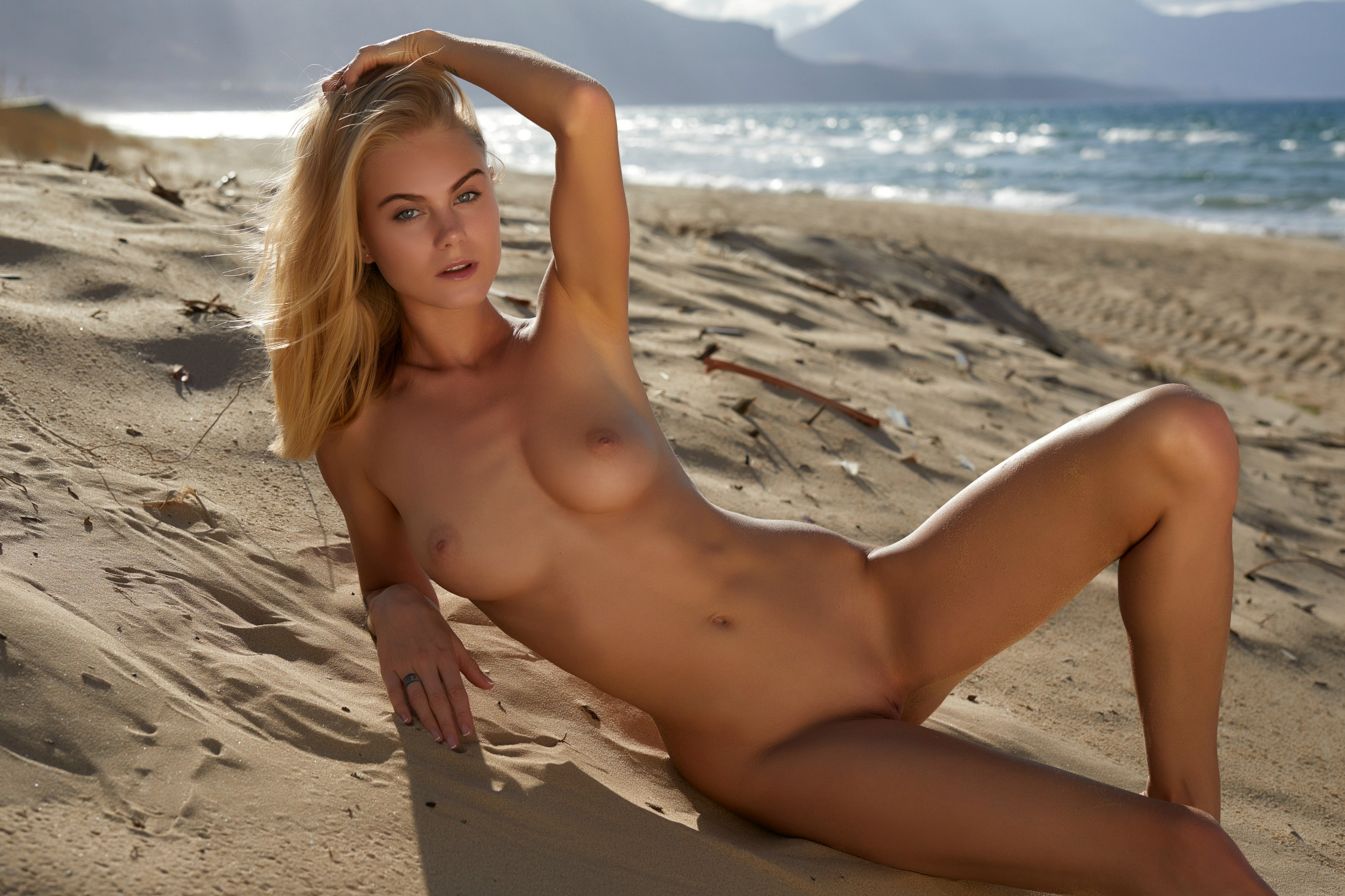 Malin Andersson Sexy In Sandy Beach