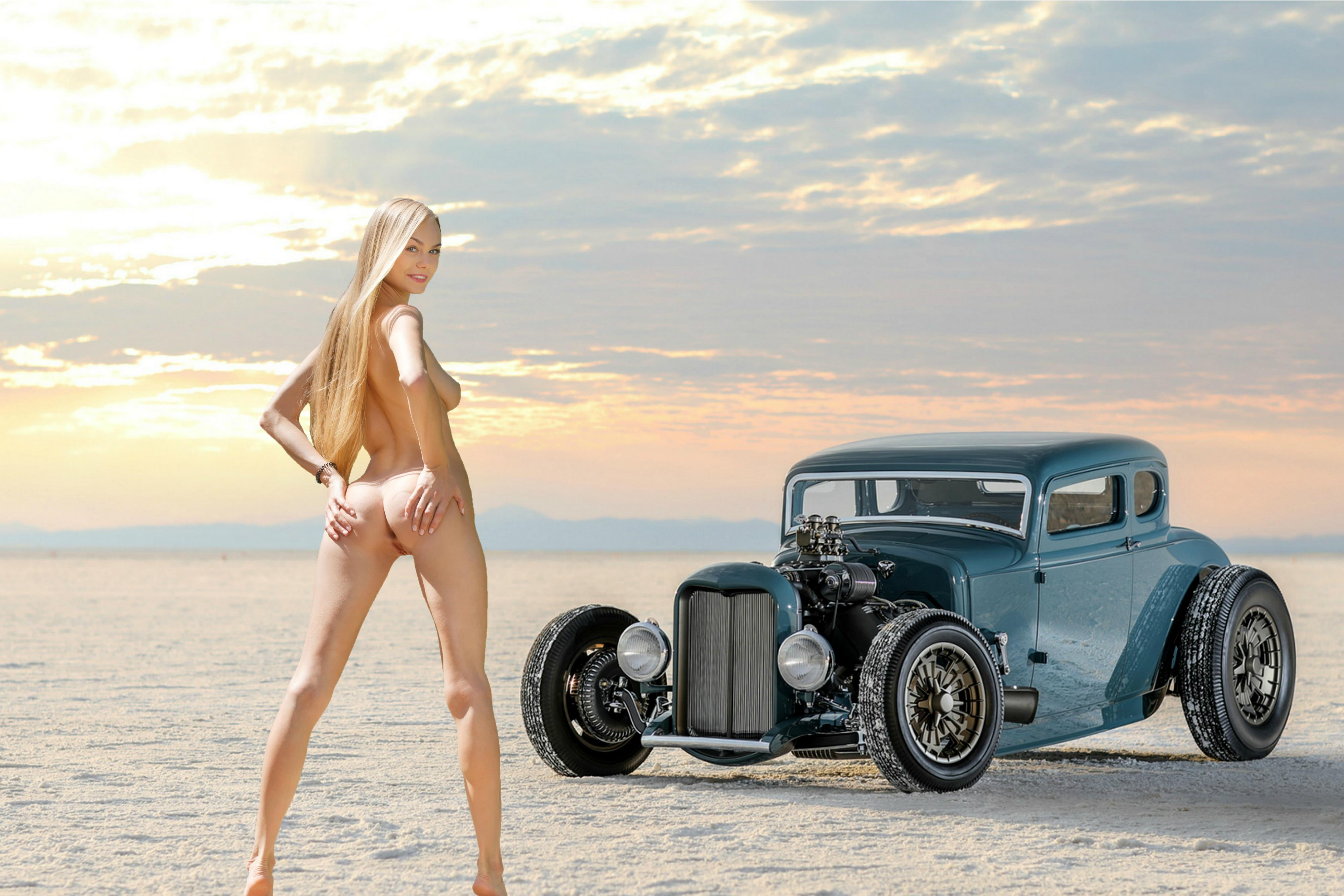 Naked hot vintage girls and hot rods, the girls of max hardcore