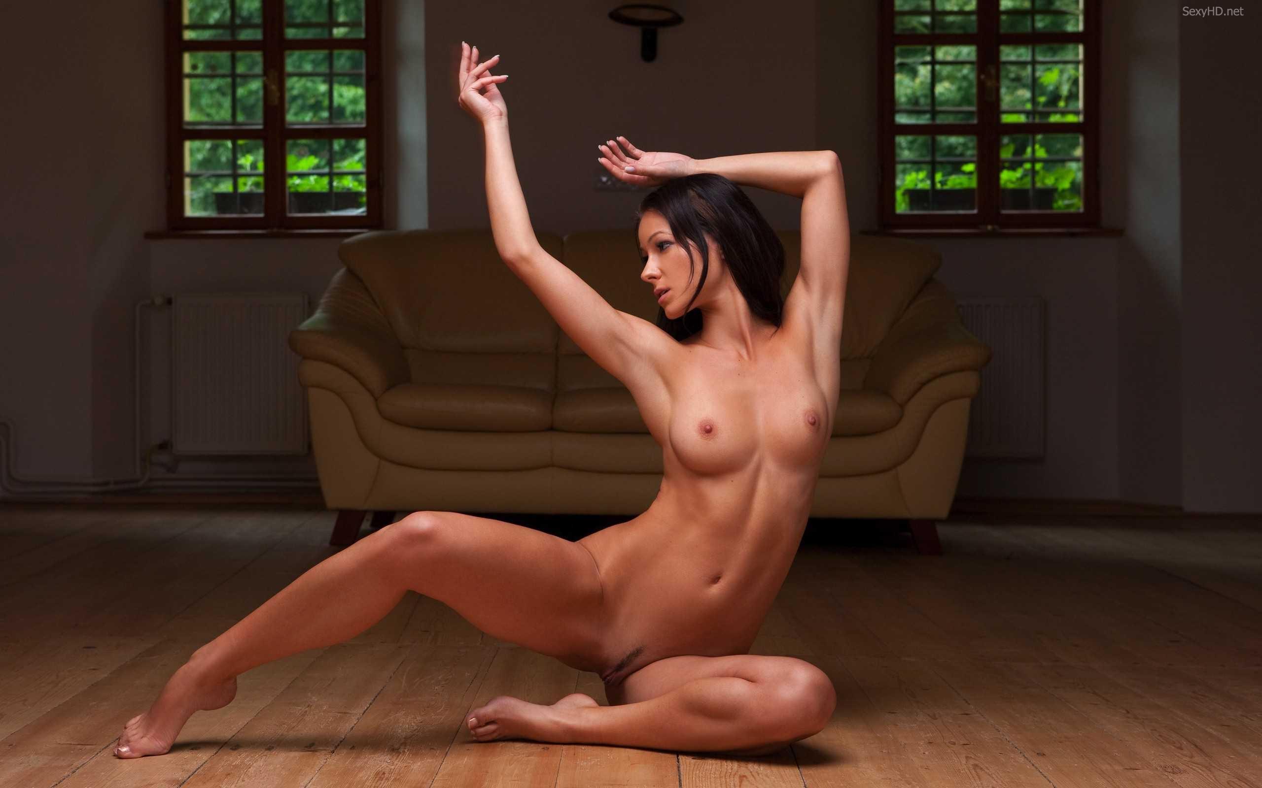Naked babes doing yoga-8682