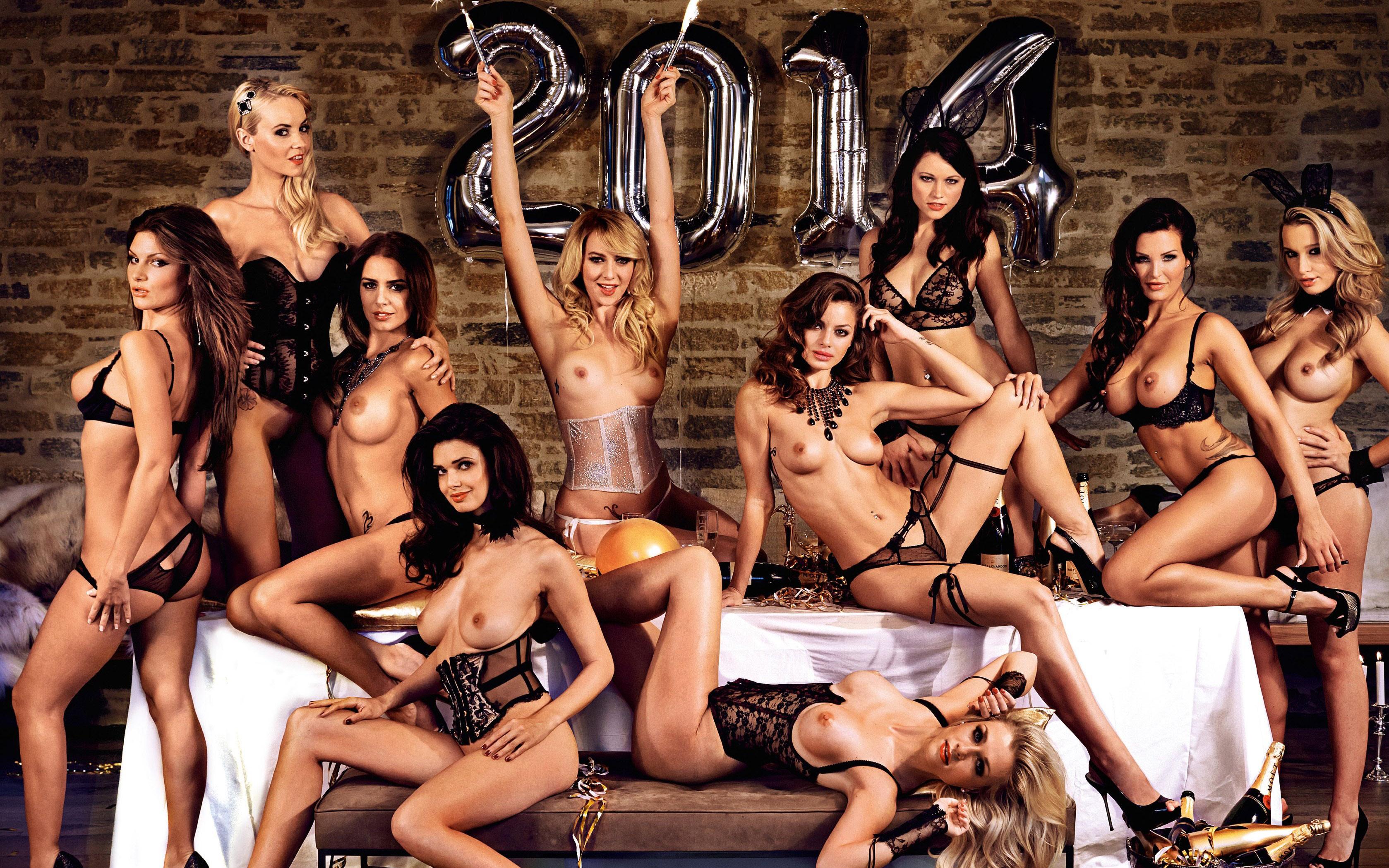 Nude female model calendar
