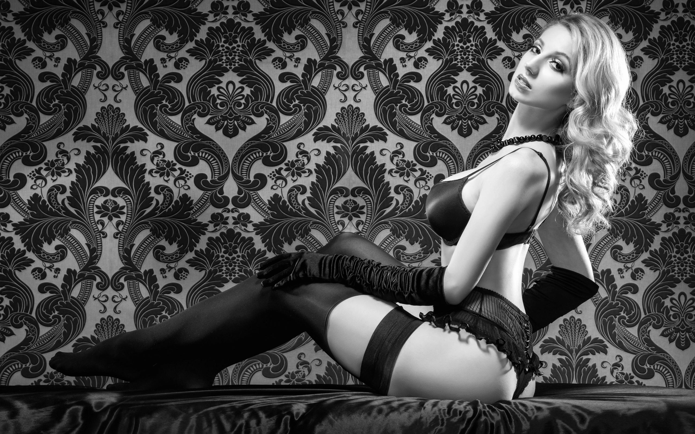 Wallpaper Stockings, Lingerie, Babe, Sexy, Big Tits, Bra -4477