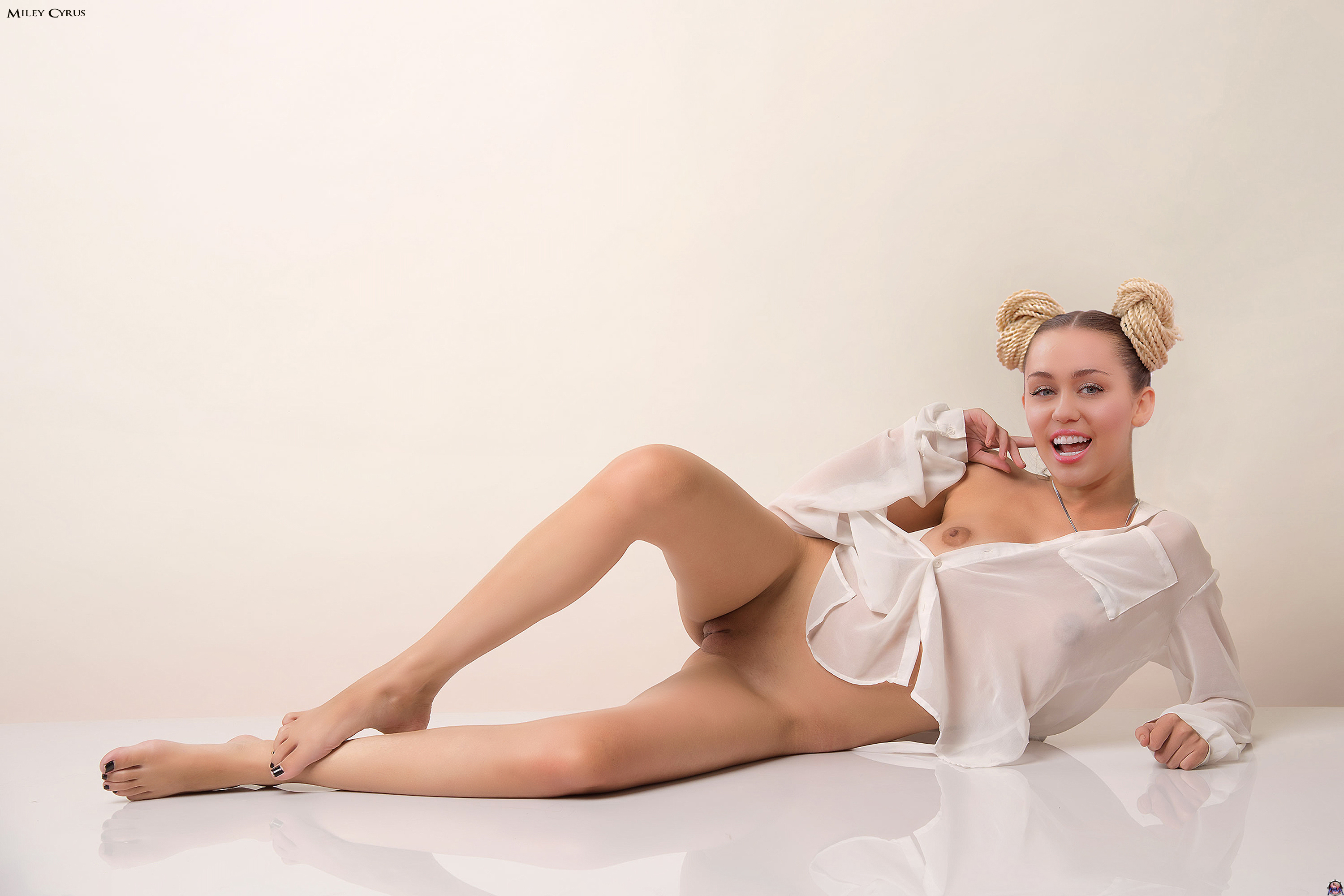 Wallpaper Miley Cyrus, Small Tits, Bottomless, Shaved -8756