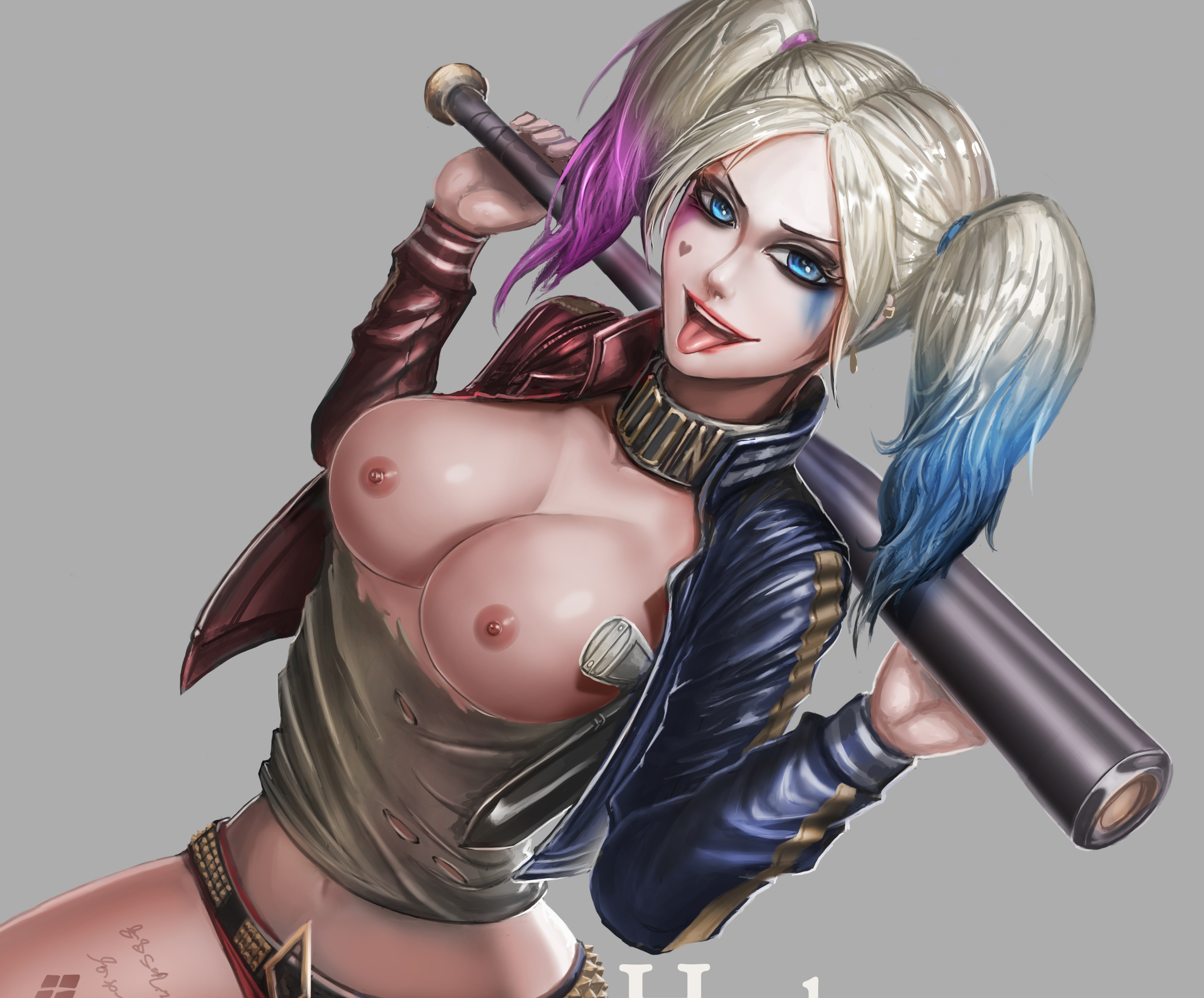 Harley quinn naked ass and tits Wallpaper Harley Quinn Boobs Tits Batman Desktop Wallpaper Fantasy Girls Id 234978 Ftopx Com
