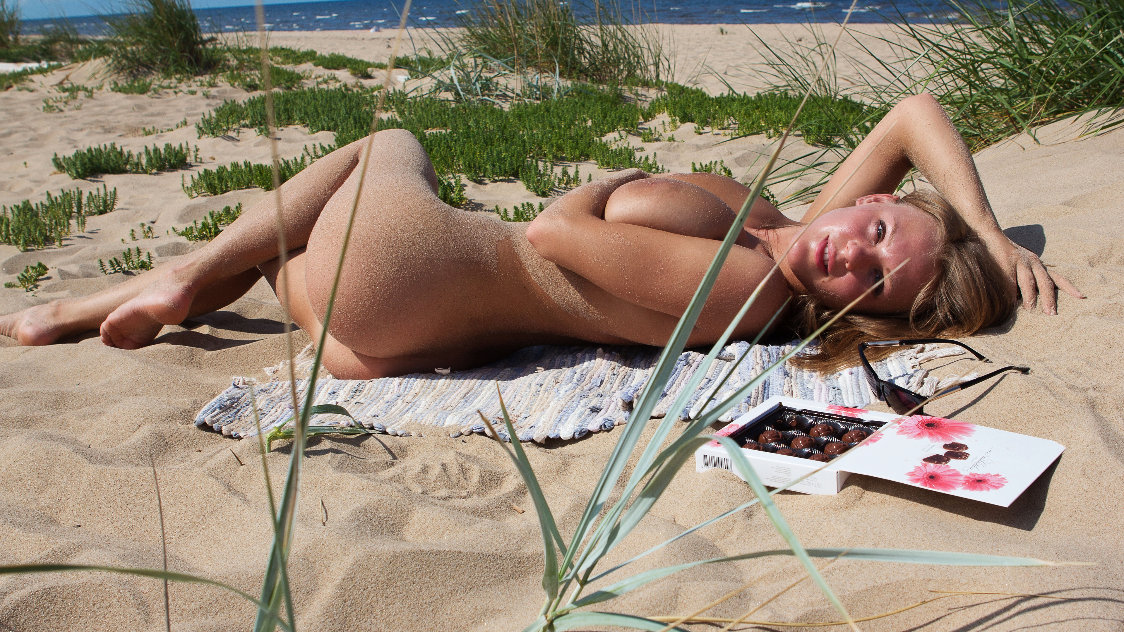 Blonde viola bailey nude on the wet sand