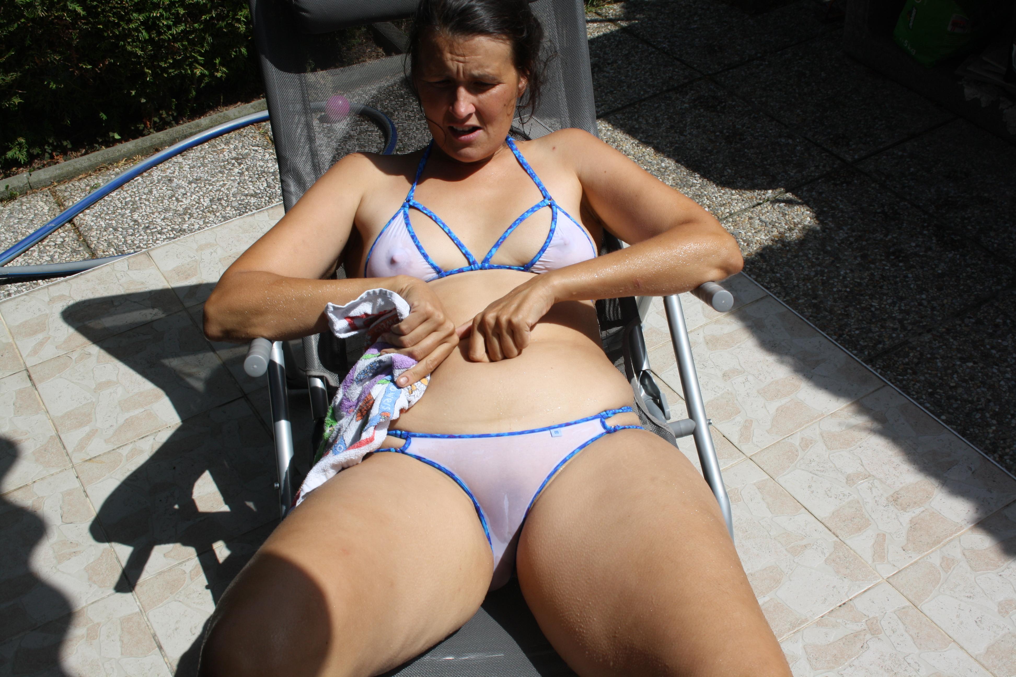 See through panties bikini amateur