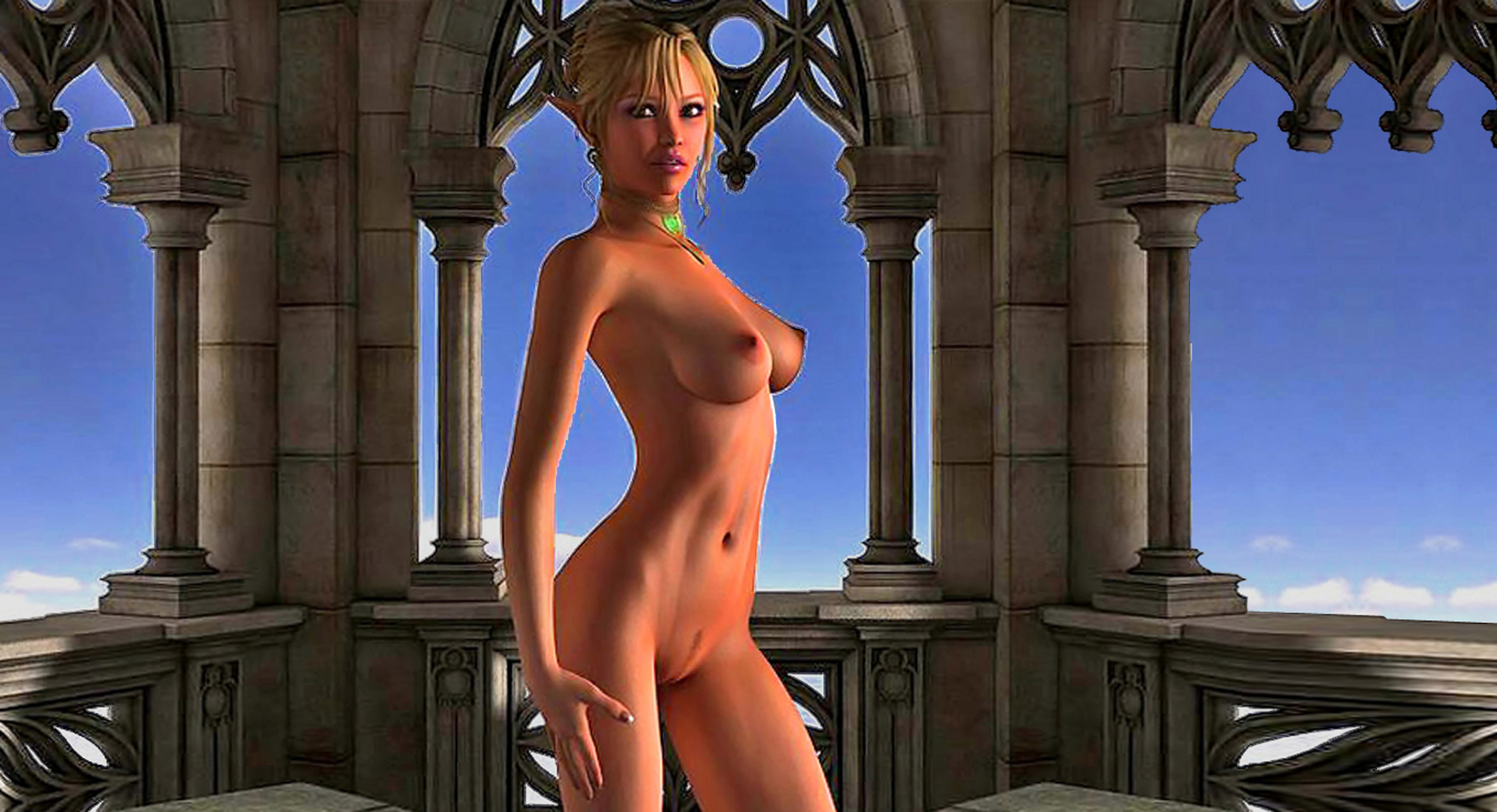 Princess nude in princess naked on the field