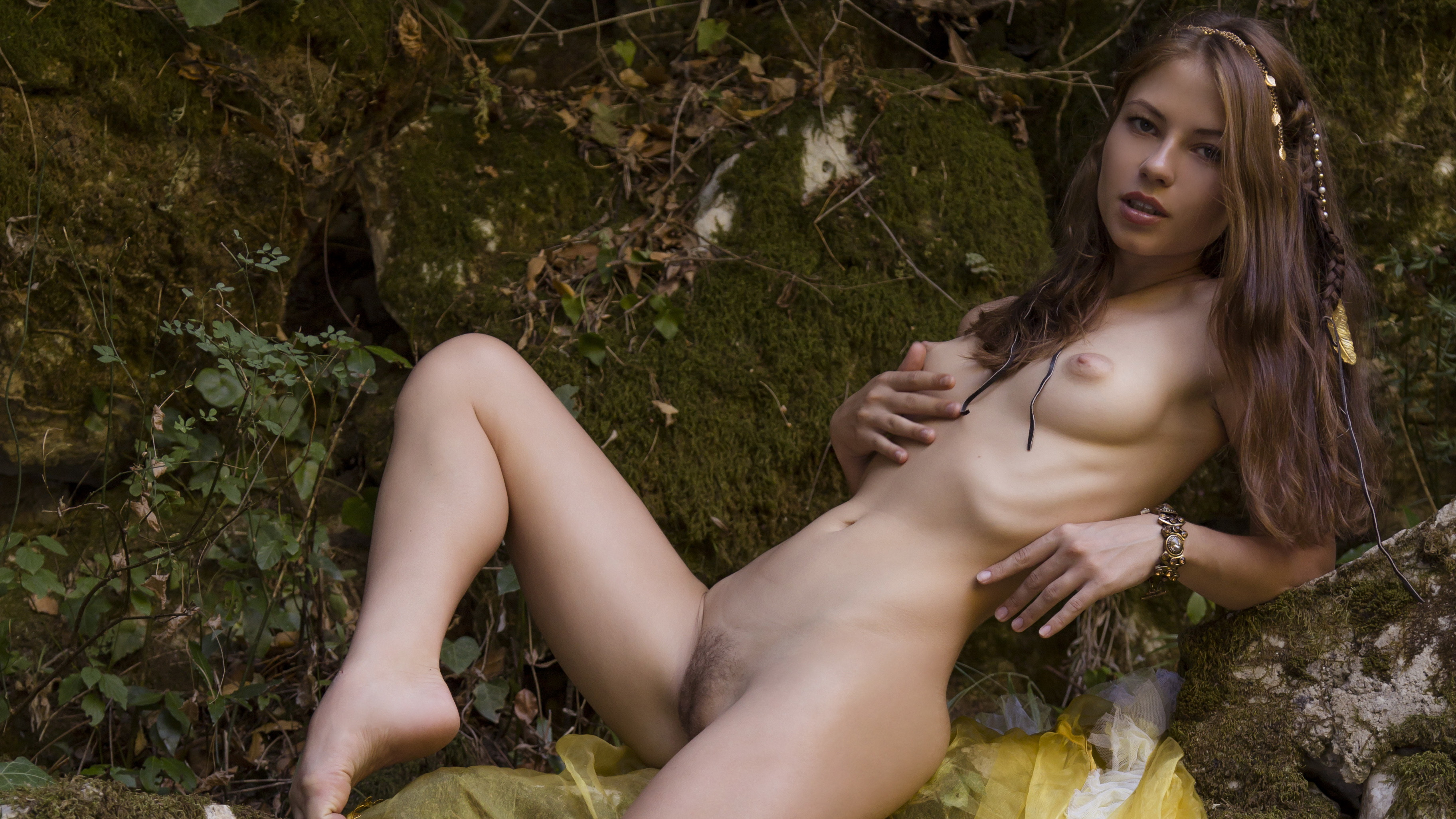 Hairy nude artistic