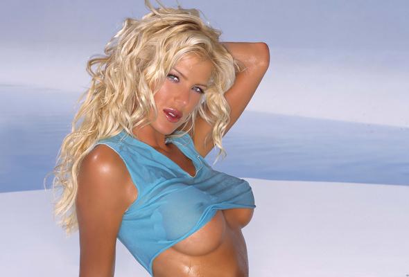 blonde, wet, boobs, titts, victoria silvstedt