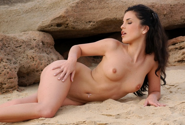 On beach nude nella