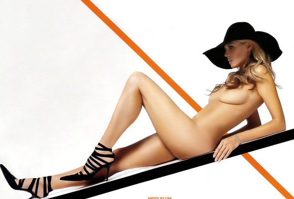 Heidi Klum Hat Model Blonde Nude Naked