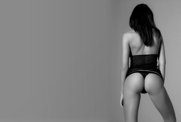 orsi, brunette, ass, lingerie, thong, panties