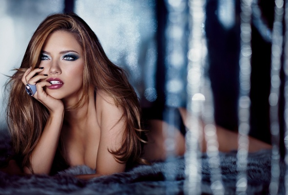 adriana lima, model, lips, eyes
