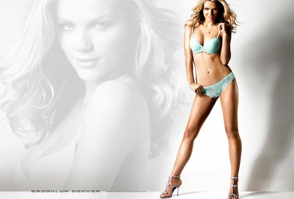 brooklyn decker, model, blonde, lingerie
