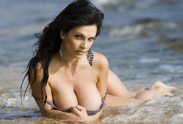 Denise milani wet tits
