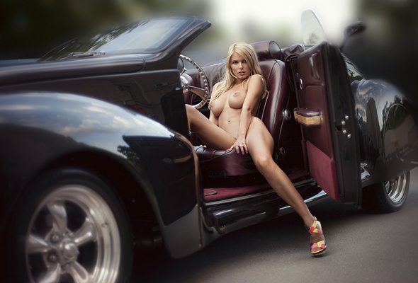 Recommend you hot blonde nude on car