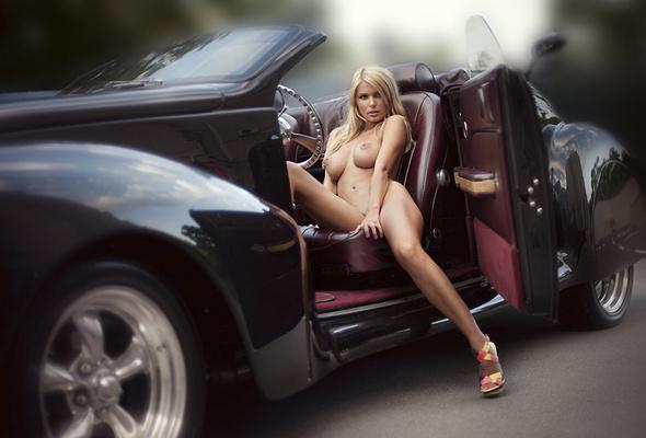 Nude On Car 65