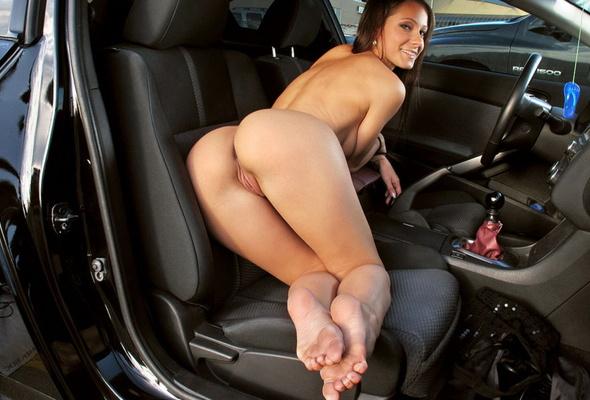 naked girls modeling in cars