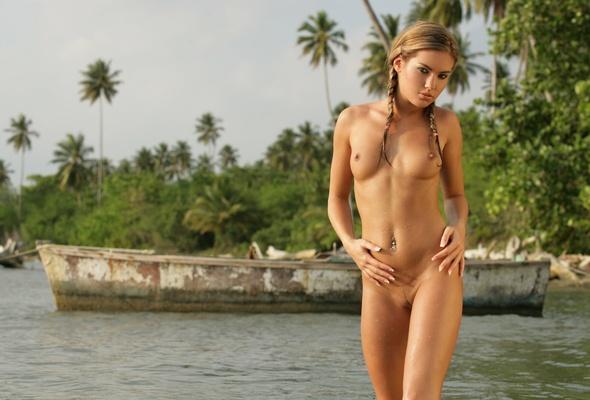 Brunette, Topless, Naked, Nude, Pussy, Veronika Fasterova, Wet,