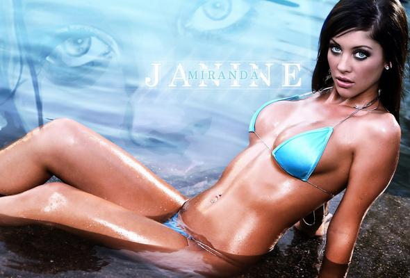 Even got bikini model wet