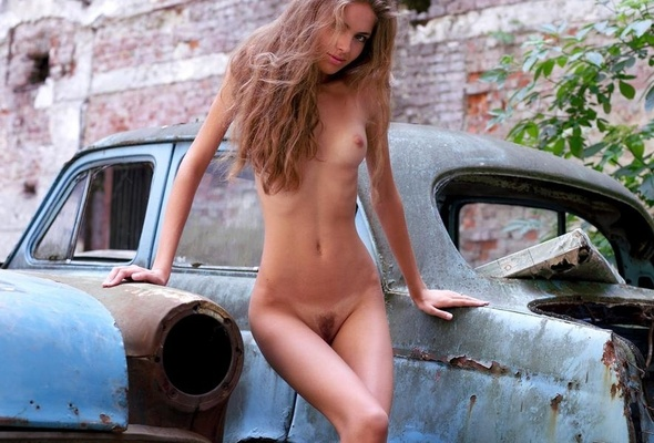 Hot naked car girl yet did
