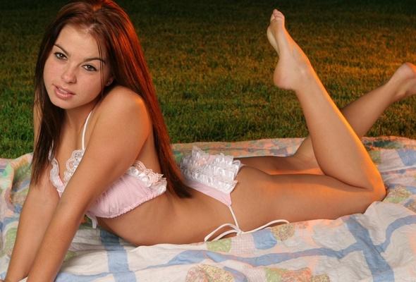 Cute panty girls brunette