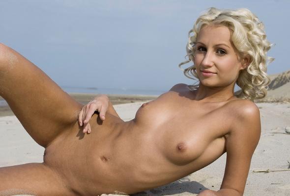 anju blonde beach sand nude naked boobs tits model cute sexy